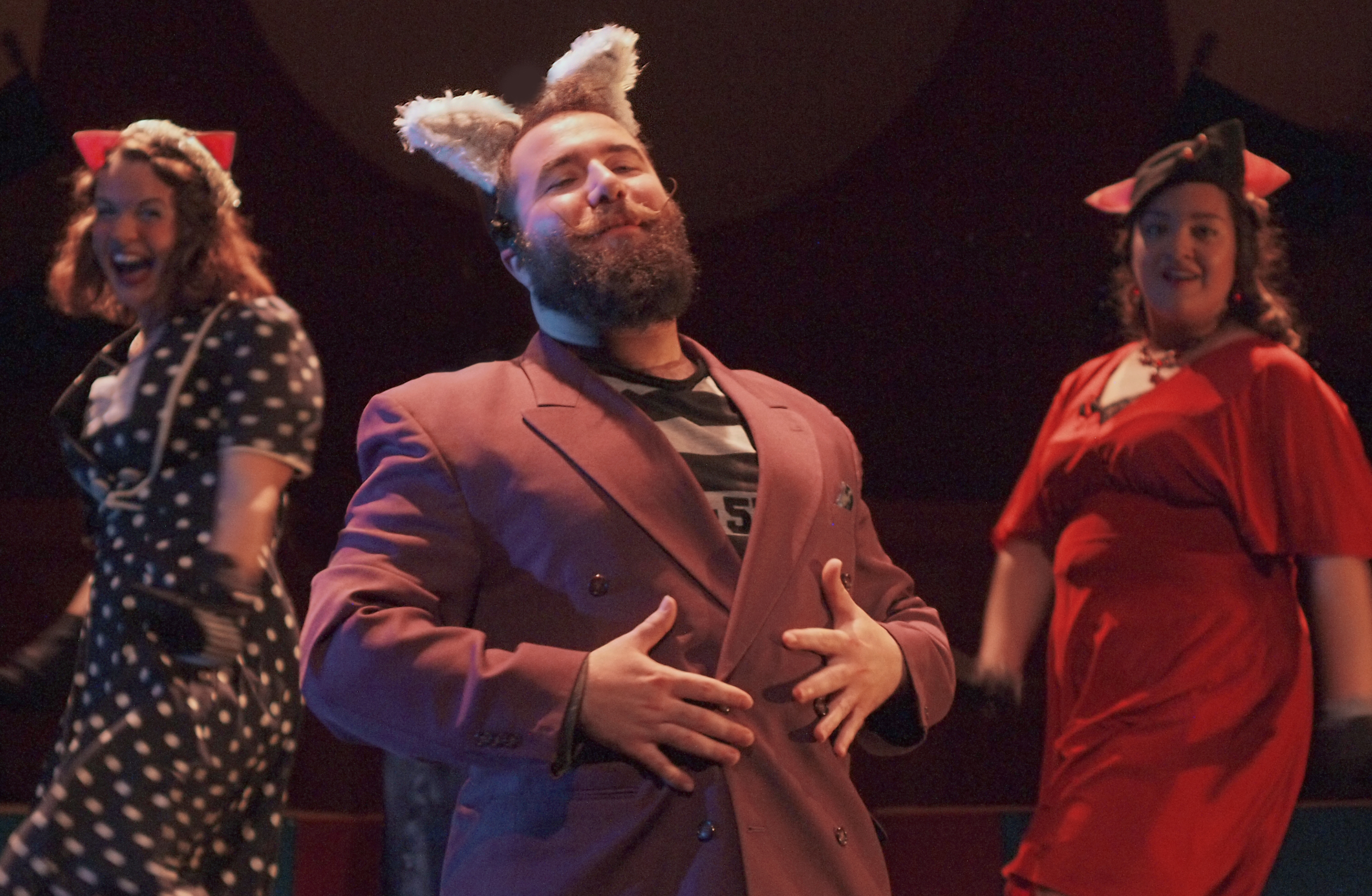 The entire family can enjoy TOY's 'The True Story of the Three Little Pigs' with Jacob Albarella as the Wolf and Sarah Blewett and Jennel Pruneda as Piggie backup singers.