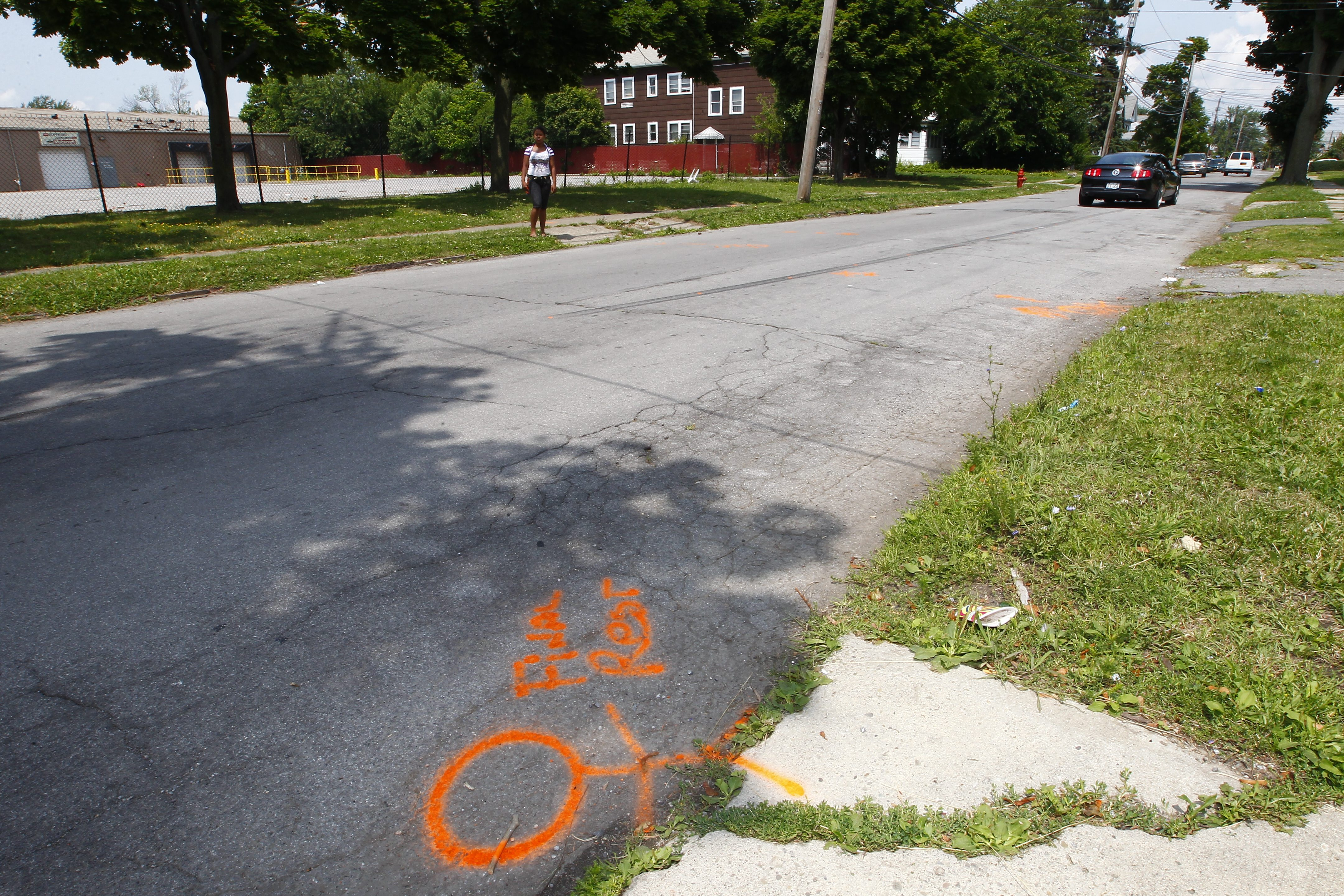 Closer to home than Cincinnati, a 2-year-old girl who had slipped away from supervision was struck by a speeding car on Floss Avenue in Buffalo in 2014. (John Hickey/News file photo)
