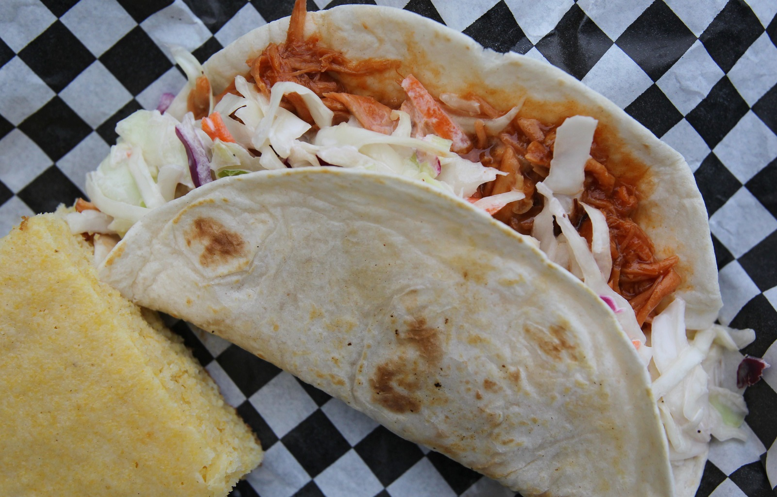 BBQ chicken wrap from R&R BBQ Truck. (Mark Mulville/Buffalo News file photo)