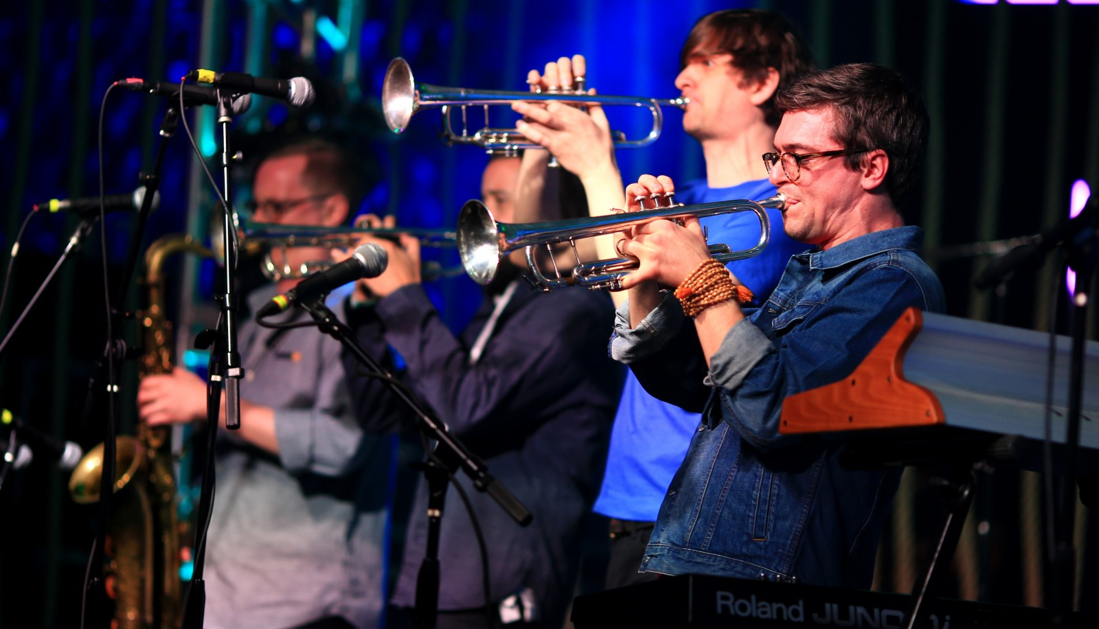 Snarky Puppy, seen here at SXSW, played an energetic sold-out show at Town Ballroom. (Getty Images file photo)