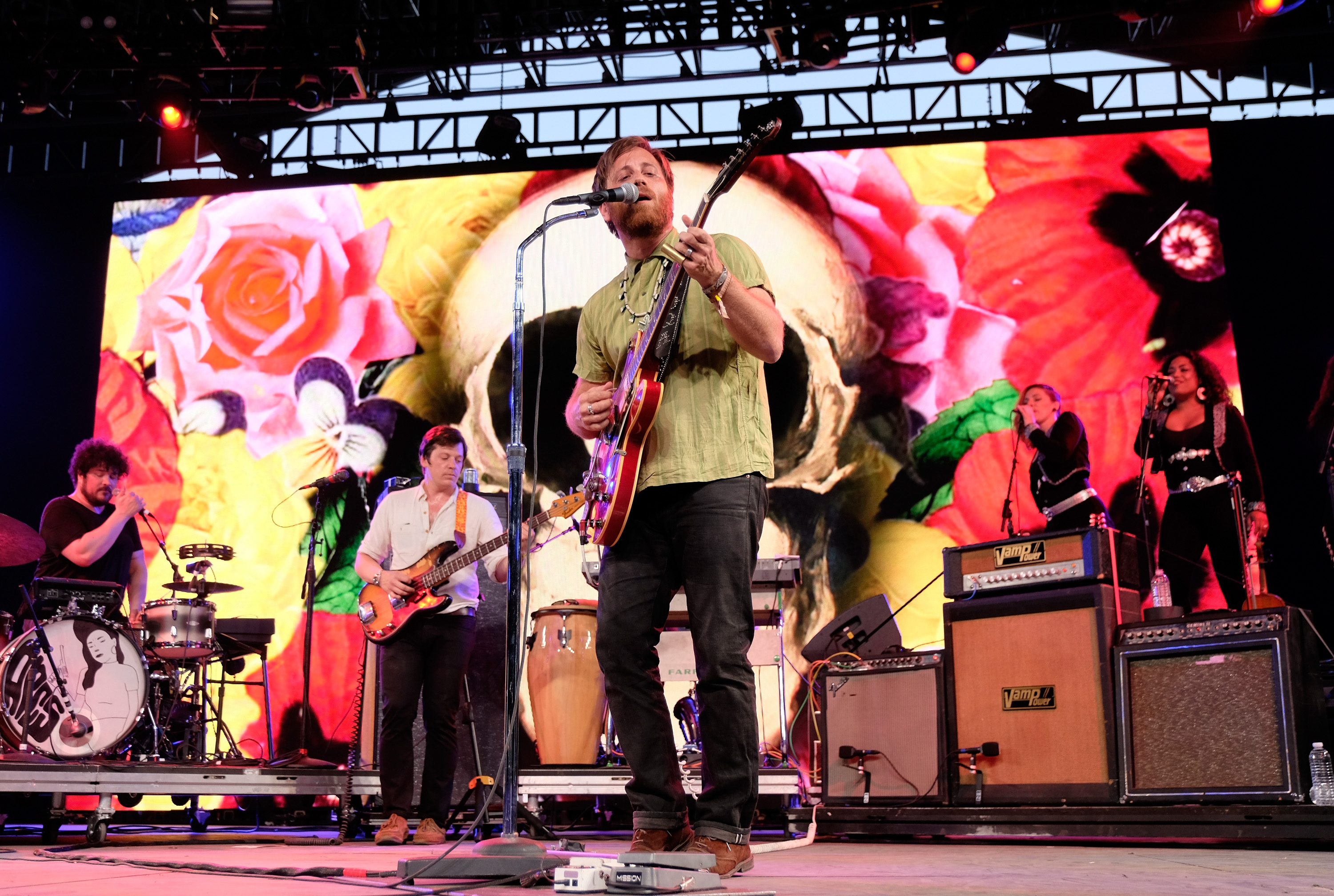 INDIO, CA - APRIL 23: Musician Dan Auerbach of The Arcs performs onstage during day 2 of the 2016 Coachella Valley Music & Arts Festival Weekend 2 at the Empire Polo Club on April 23, 2016 in Indio, California. (Photo by Frazer Harrison/Getty Images for Coachella)