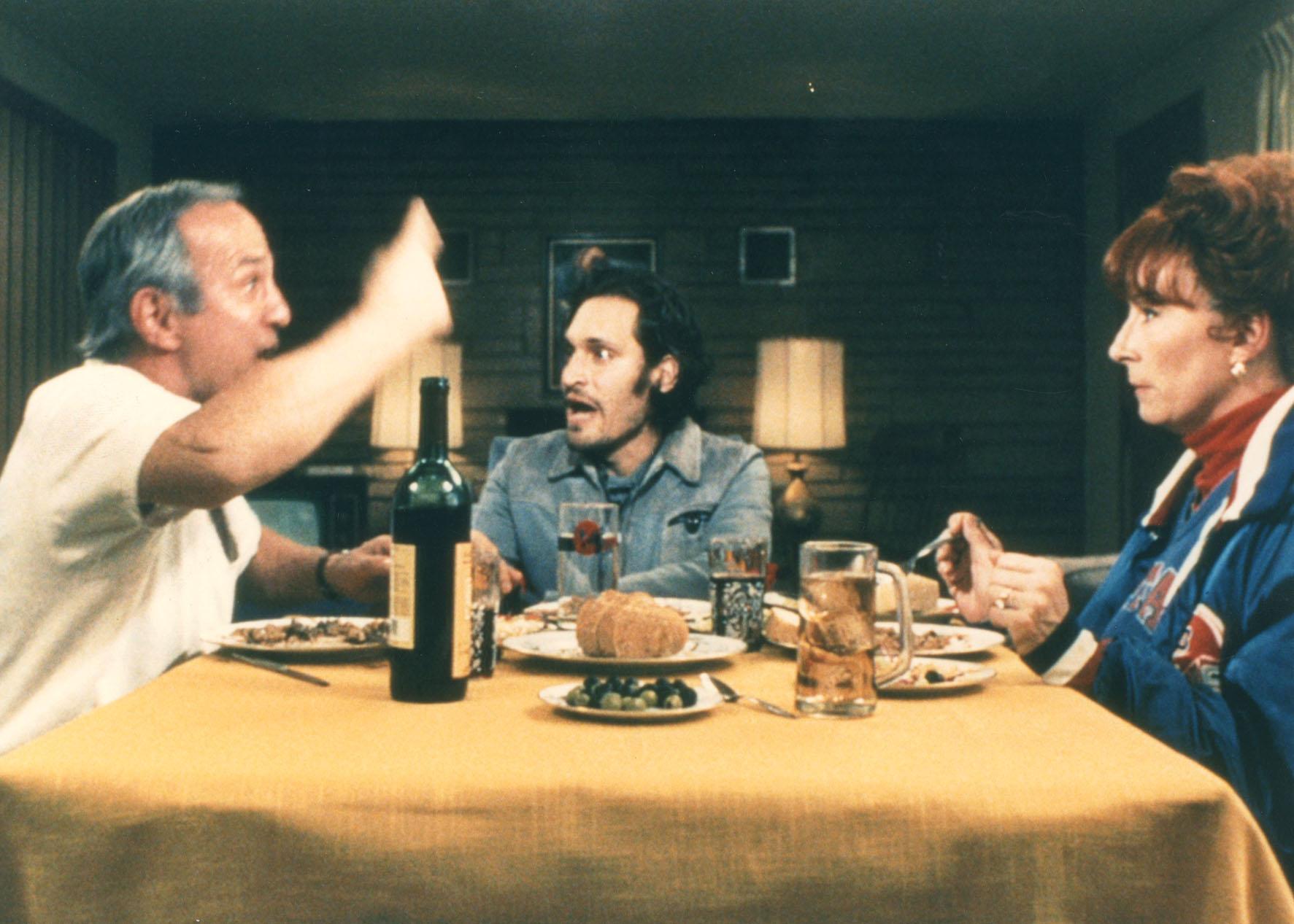 """Ben Gazarra, left, Vincent Gallo and Anjelica Huston starred in Gallo's film """"Buffalo 66."""""""