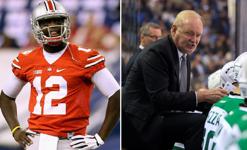 Bills draft pick Cardale Jones and Stars coach Lindy Ruff are subjects of chatter on 'Sports Talk Sunday.' (Andy Lyons/Getty Images)