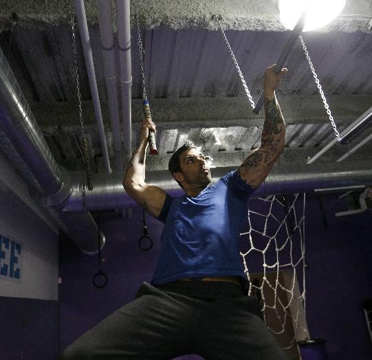 Patrick Hall, owner of Hybrid Fitness, will coach five Western New Yorkers next week through the Philadelphia  qualifiers for the upcoming season of 'American Ninja Warriors.' (Sharon Cantillon/Buffalo News file photo)