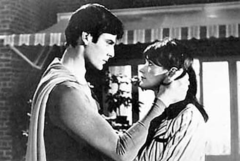 "Christopher Reeve and Margot Kidder in ""Superman 2."""