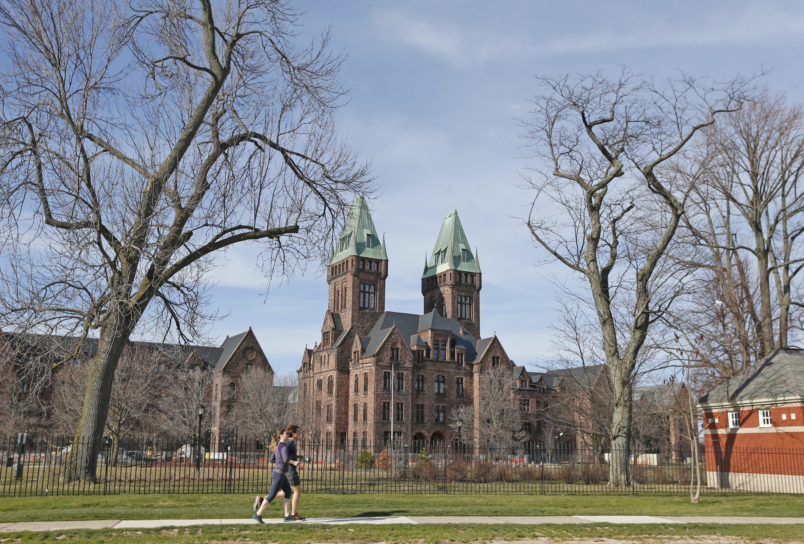 Recent tours offered a glimpse into the progress, and the challenges, in converting a portion of the Richardson Complex near Buffalo State College into Hotel Henry and the Buffalo Architectural Center. (Robert Kirkham/Buffalo News)