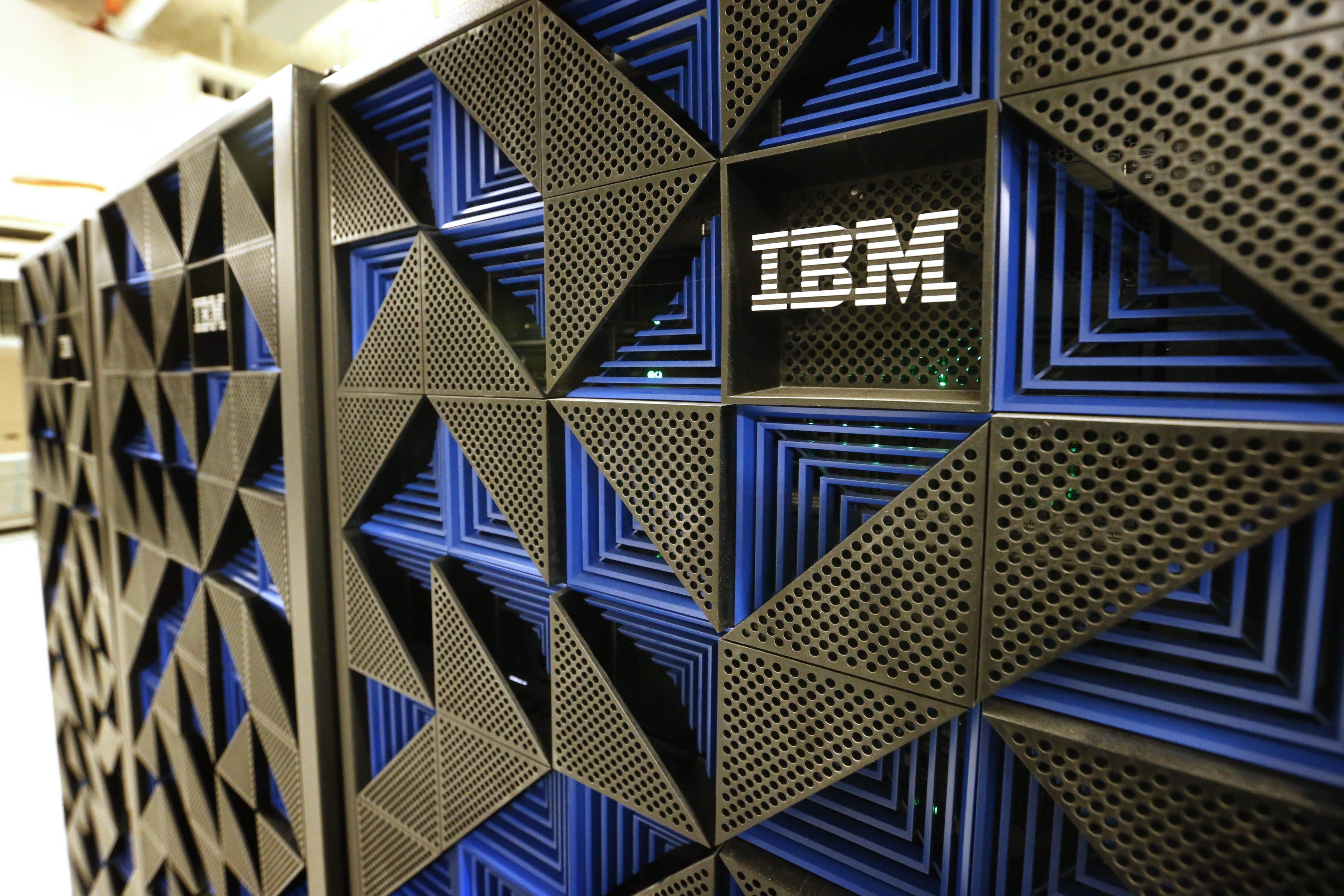 Servers in the new IBM Buffalo Innovation Center in Key Tower.  (Derek Gee/Buffalo News)