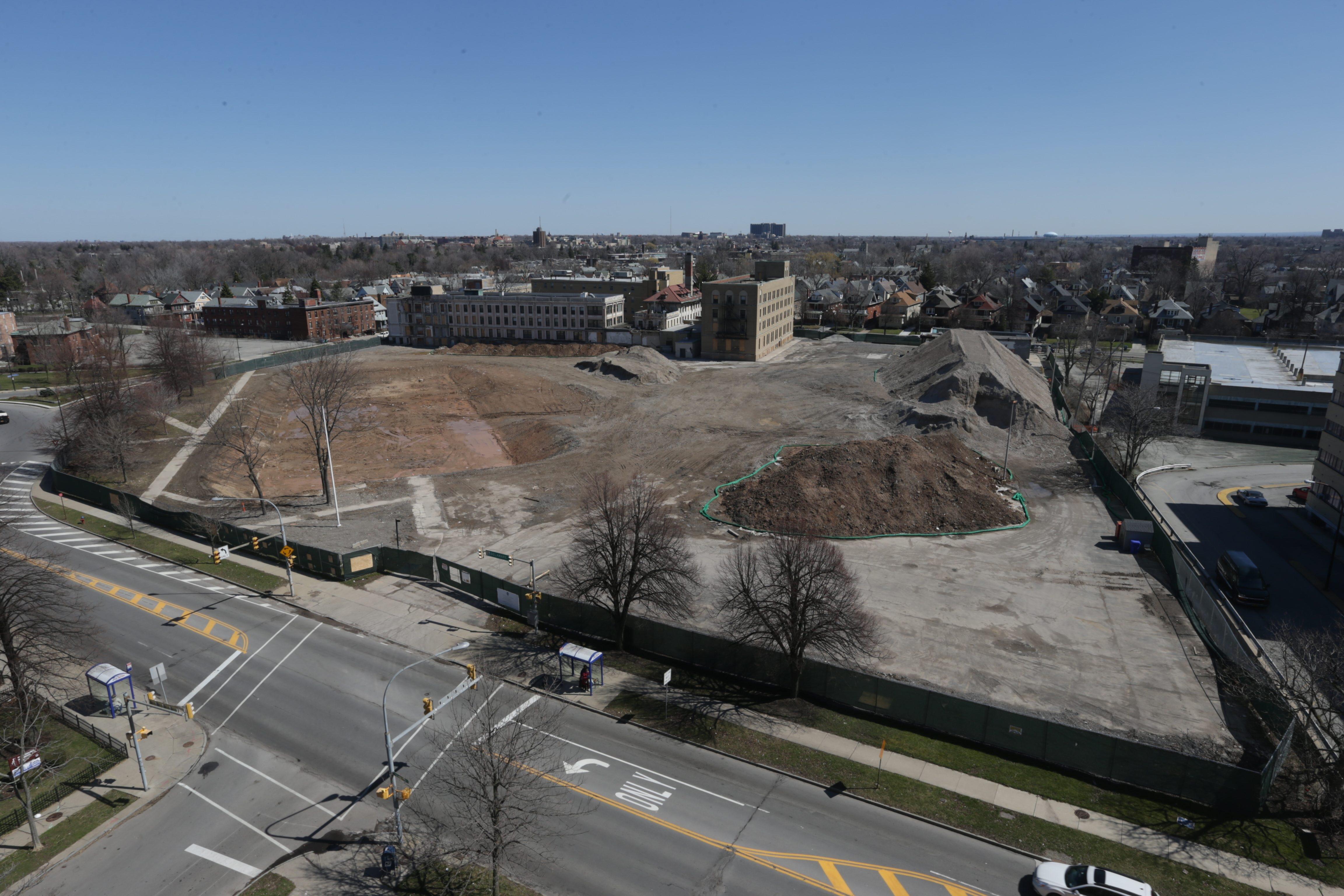 The Gates Circle site of former Millard Fillmore Hospital. (John Hickey/Buffalo News file photo)