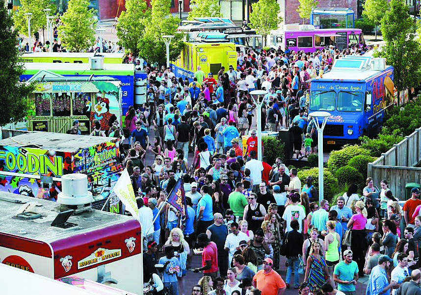 Food Truck Tuesday at Larkinville includes healthy choices. (Sharon Cantillon/Buffalo News file photo)