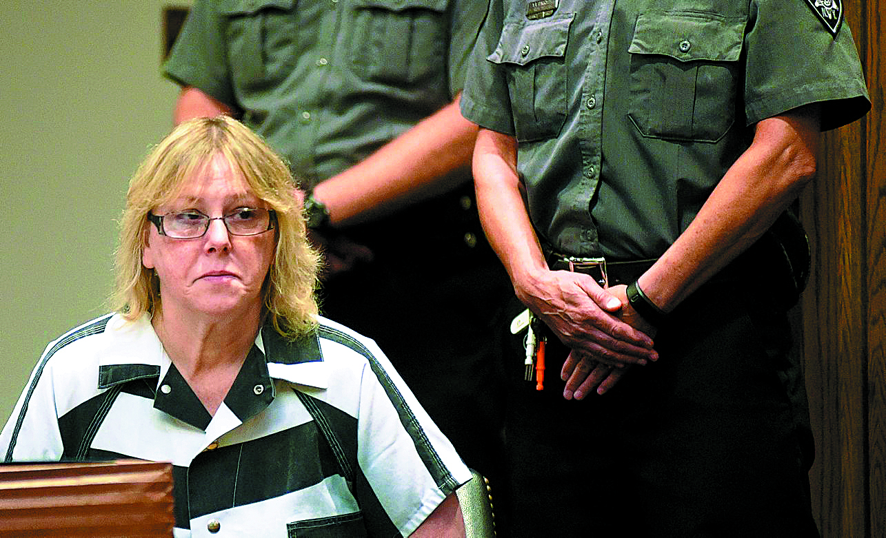 Joyce Mitchell appears at Clinton County Court Court in Plattsburgh on July 28, 2015.  A movie about her role in the escape of a pair of inmates from Clinton Correctional Facility comes to Lifetime Sunday. (New York Times)