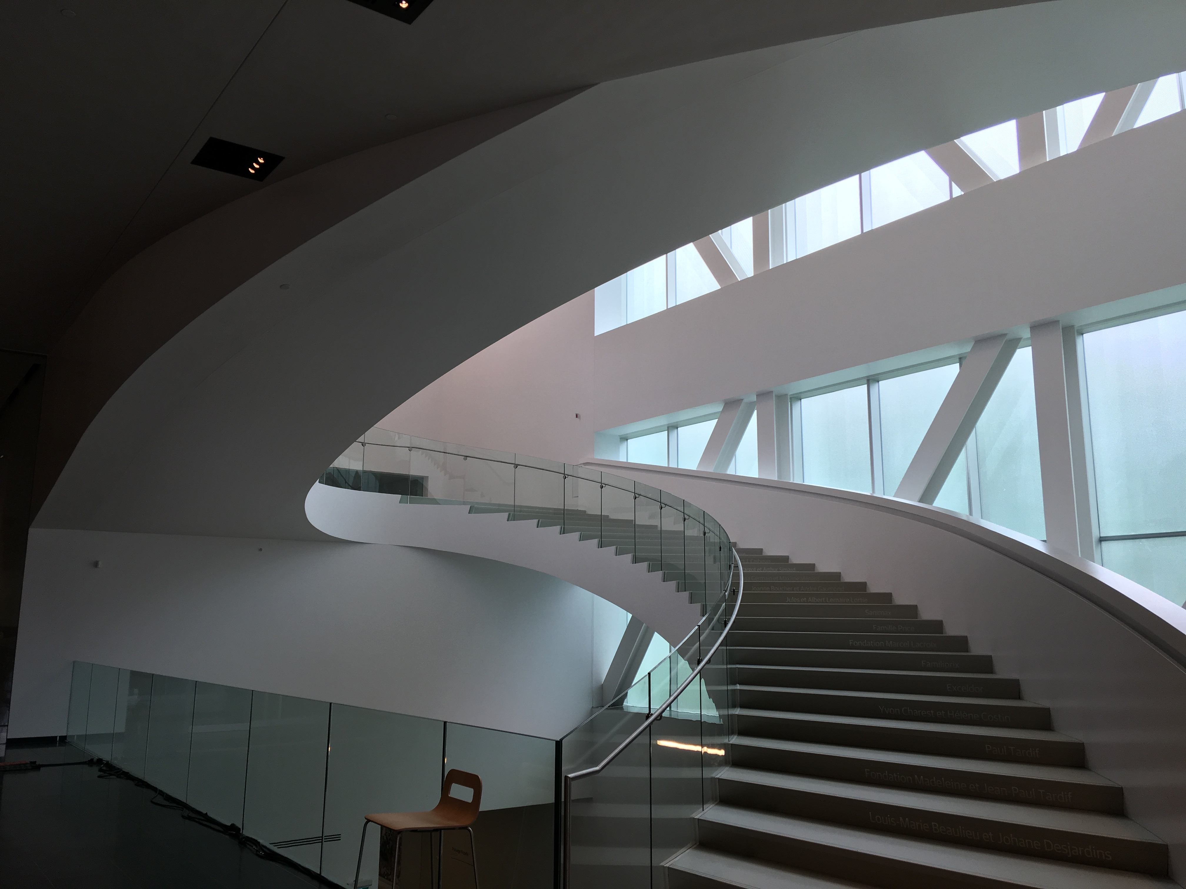 The central stairway at Quebec City's new National Museum of Fine Arts.