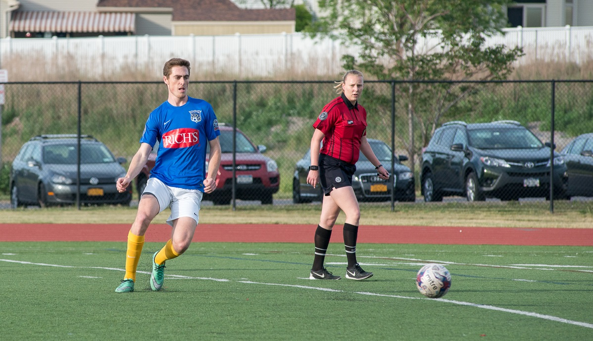 FC Buffalo's Ian McGrath earned man of the match honors in the 1-0 win over FC Indiana. (Matt Weinberg/Special to The News)