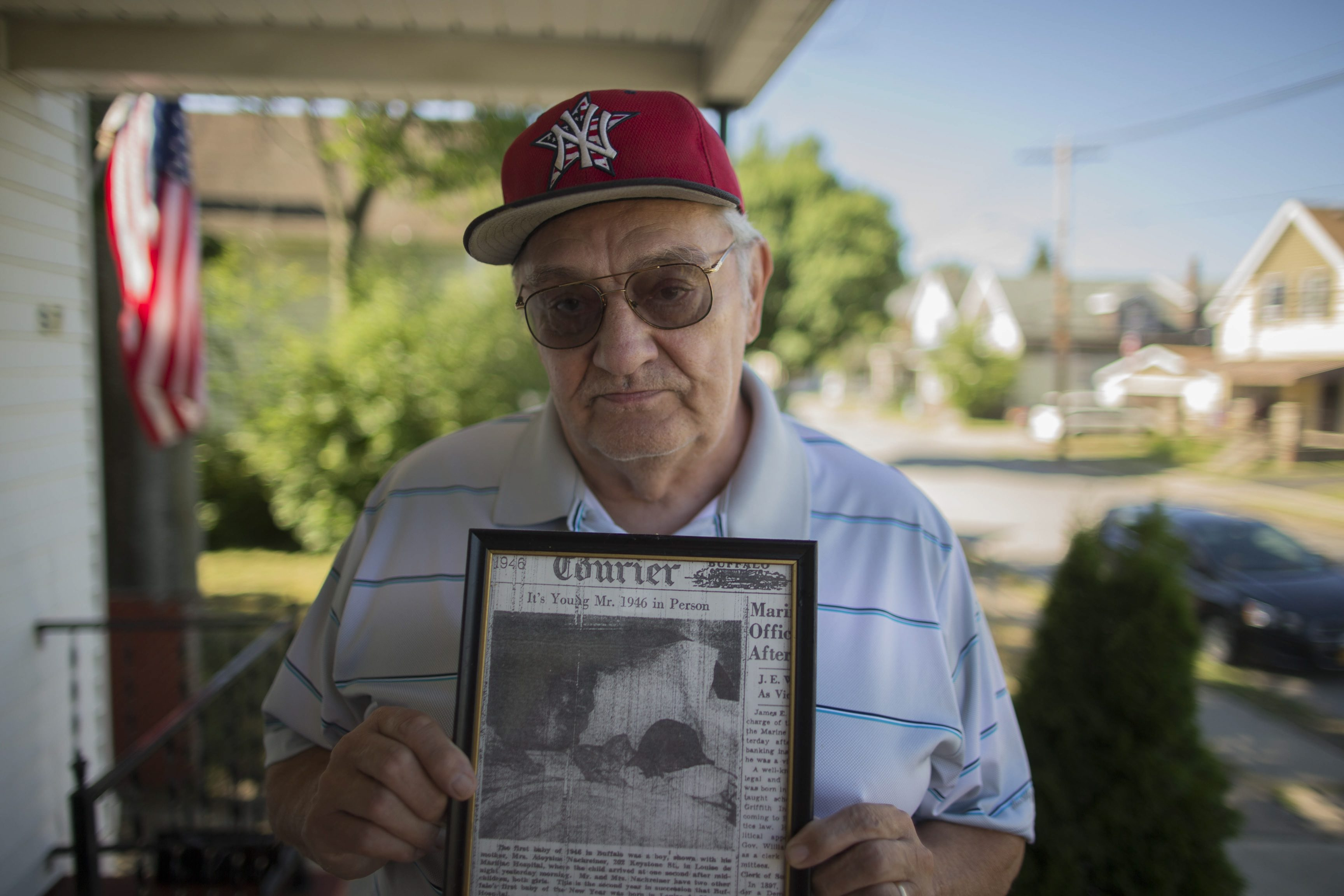 Aloysius 'Al' Nachreiner was born at Sisters Hospital in Buffalo just after midnight on Jan. 1, 1946, making him the first member of the 'Baby Boom' generation.  (Derek Gee/Buffalo News)
