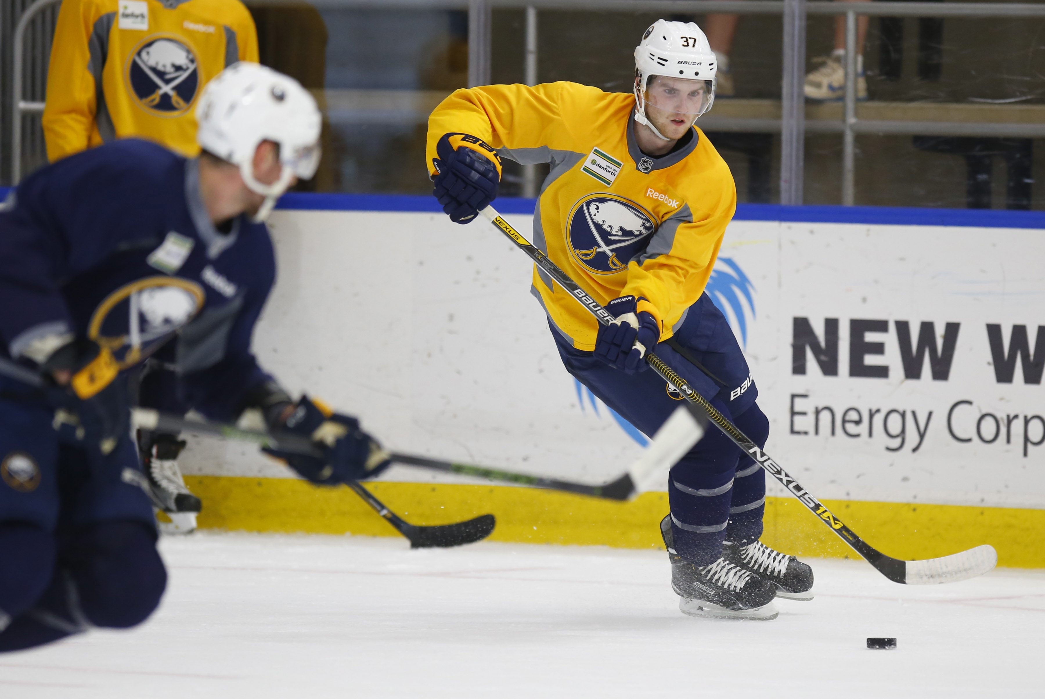 Buffalo Sabres prospect Connor Hurley during the team's 2016 development camp. (Harry Scull Jr./Buffalo News)