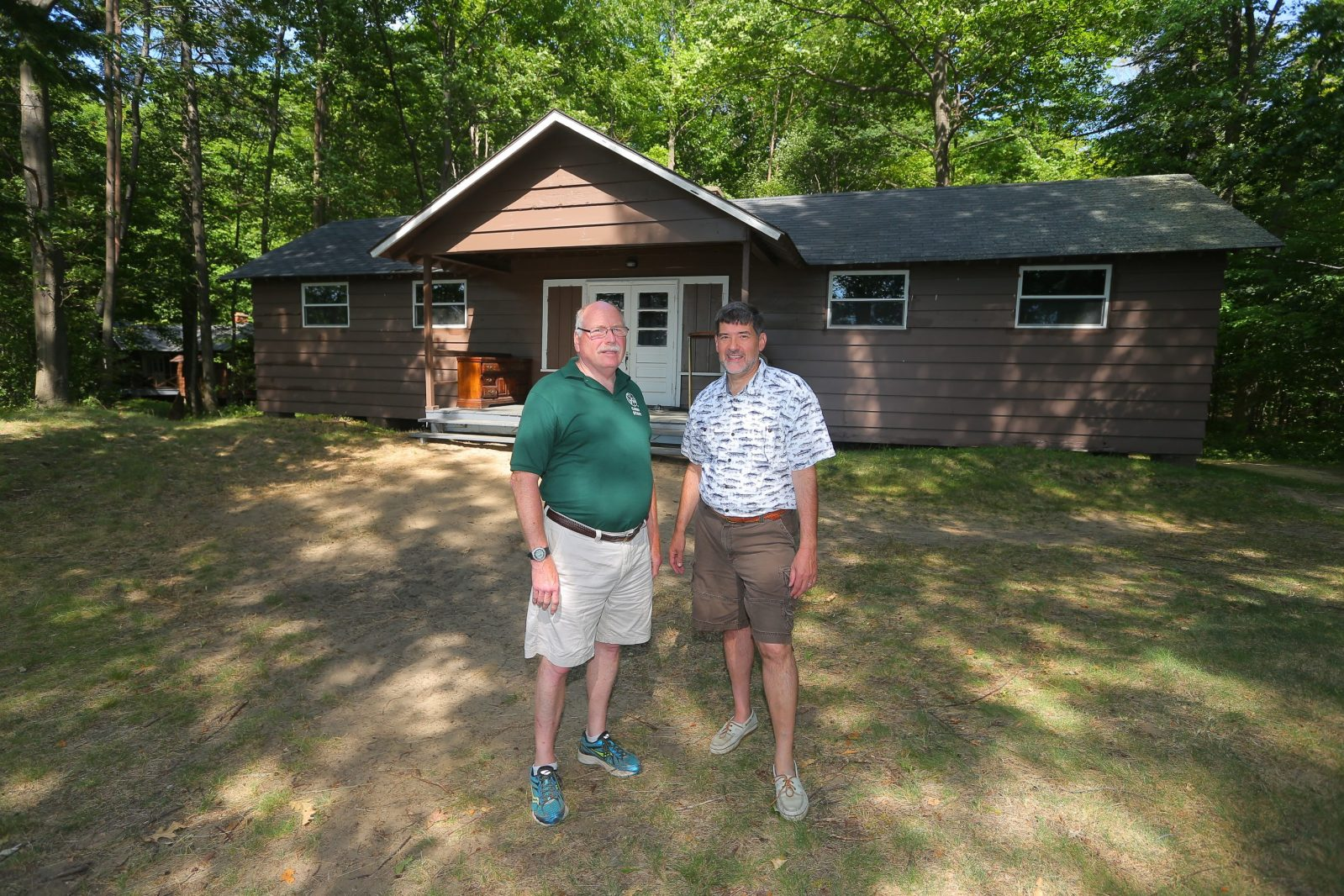 Ray Wassinger, camp director, left, and Mark Zirnheld, CEO St Vincent de Paul at the St. Vincent de Paul summer camp, in Angola, N.Y.,on Sunday July 10, 2016, this the last season for the camp, which began nearly 90 years ago but is ending because of declining enrollment and finances. (John Hickey/Buffalo News)