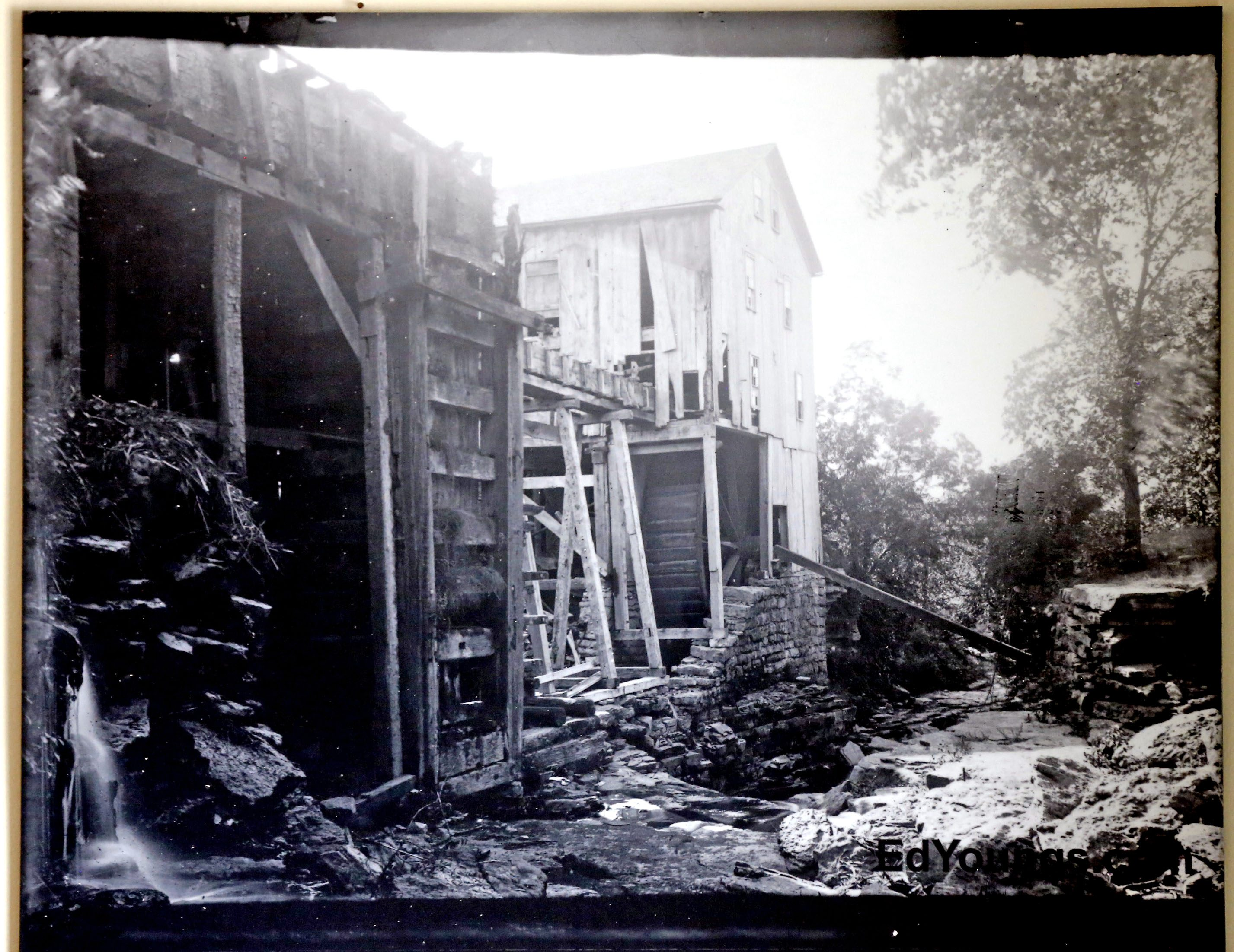A photo of the mill in its bygone years. (Robert Kirkham/Buffalo News)