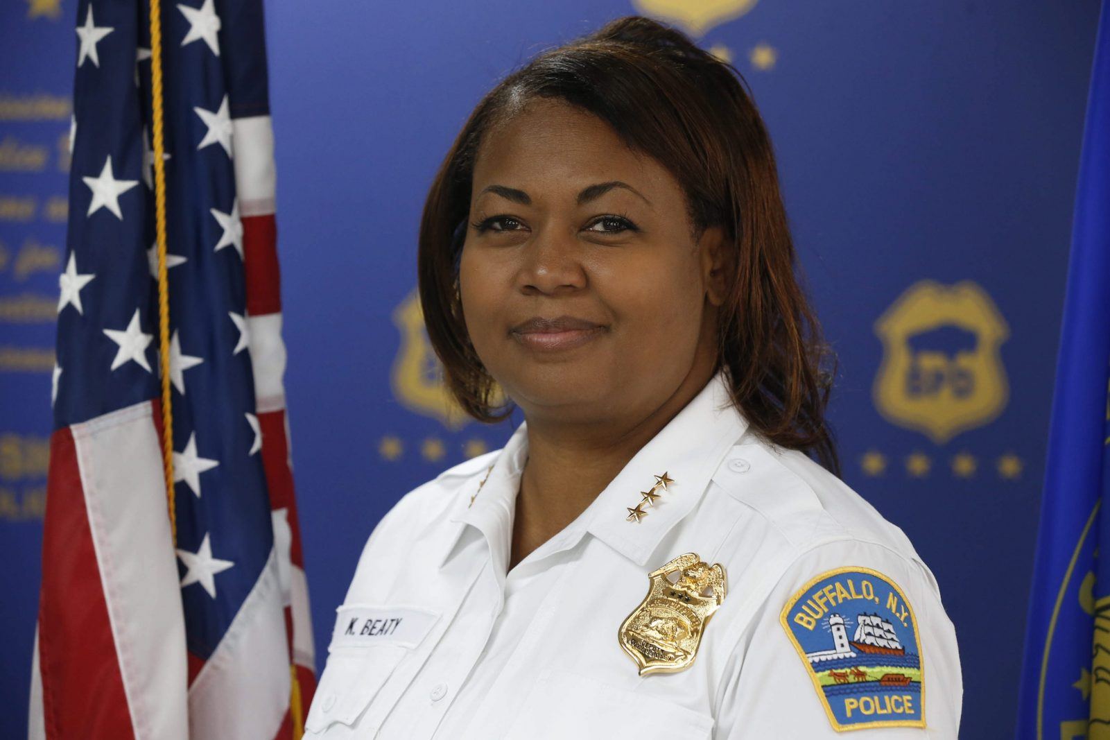 New Deputy Police Commissioner Kimberly L. Beaty at headquarters in Buffalo onMonday, July 14, 2014. (Robert Kirkham/Buffalo News)