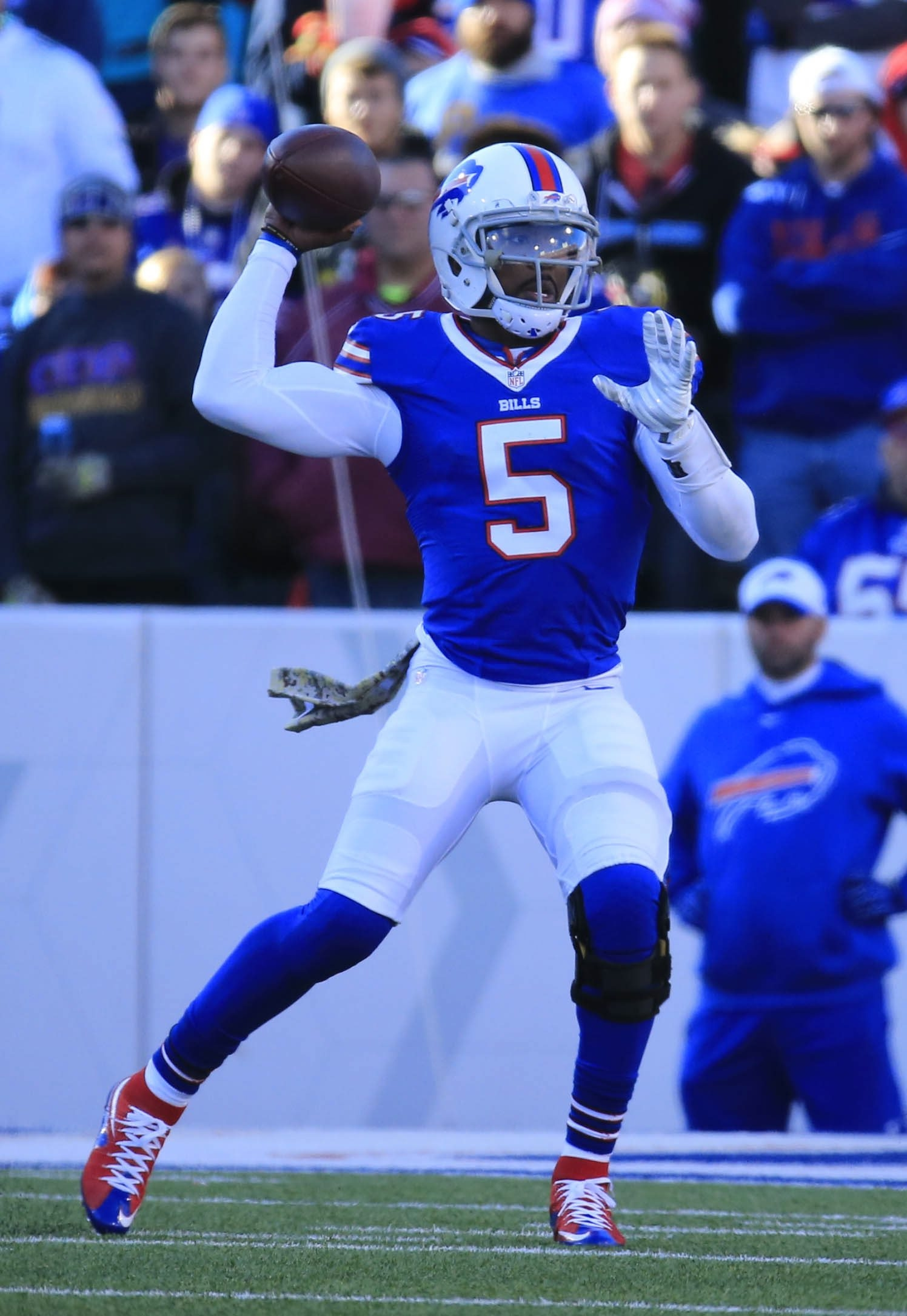 The Bills want a franchise quarterback, so they likely will spend the money on Tyrod Taylor at some point.