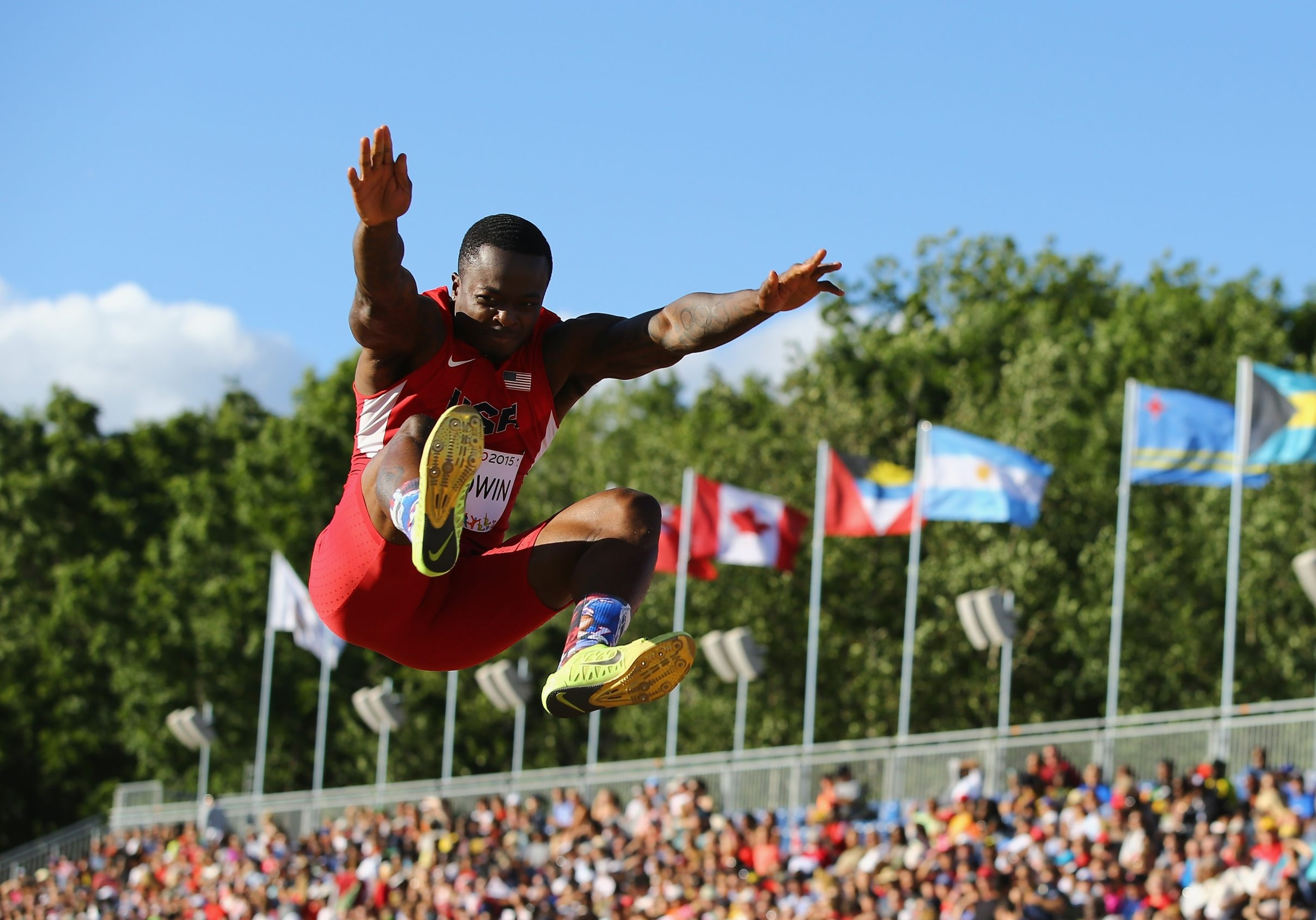 Bills receiver Marquise Goodwin fell short in qualifying for the long jump at the Rio Olympics.