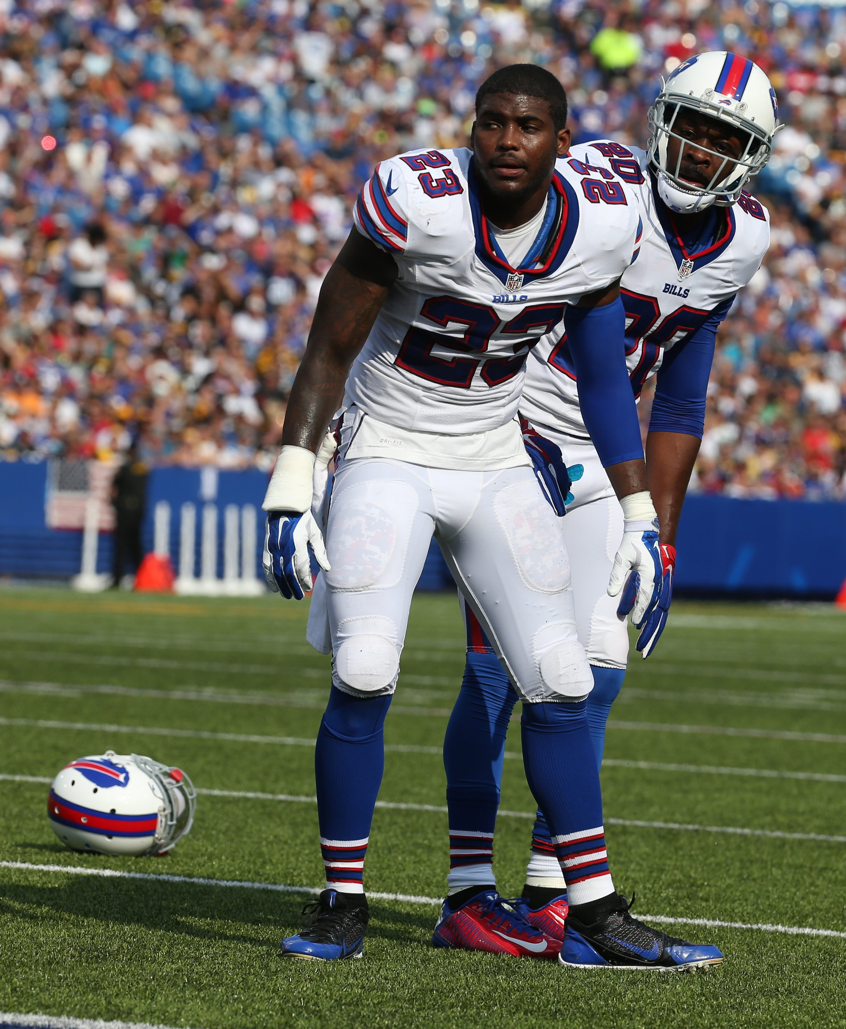 Aaron Williams awaits that first hit.