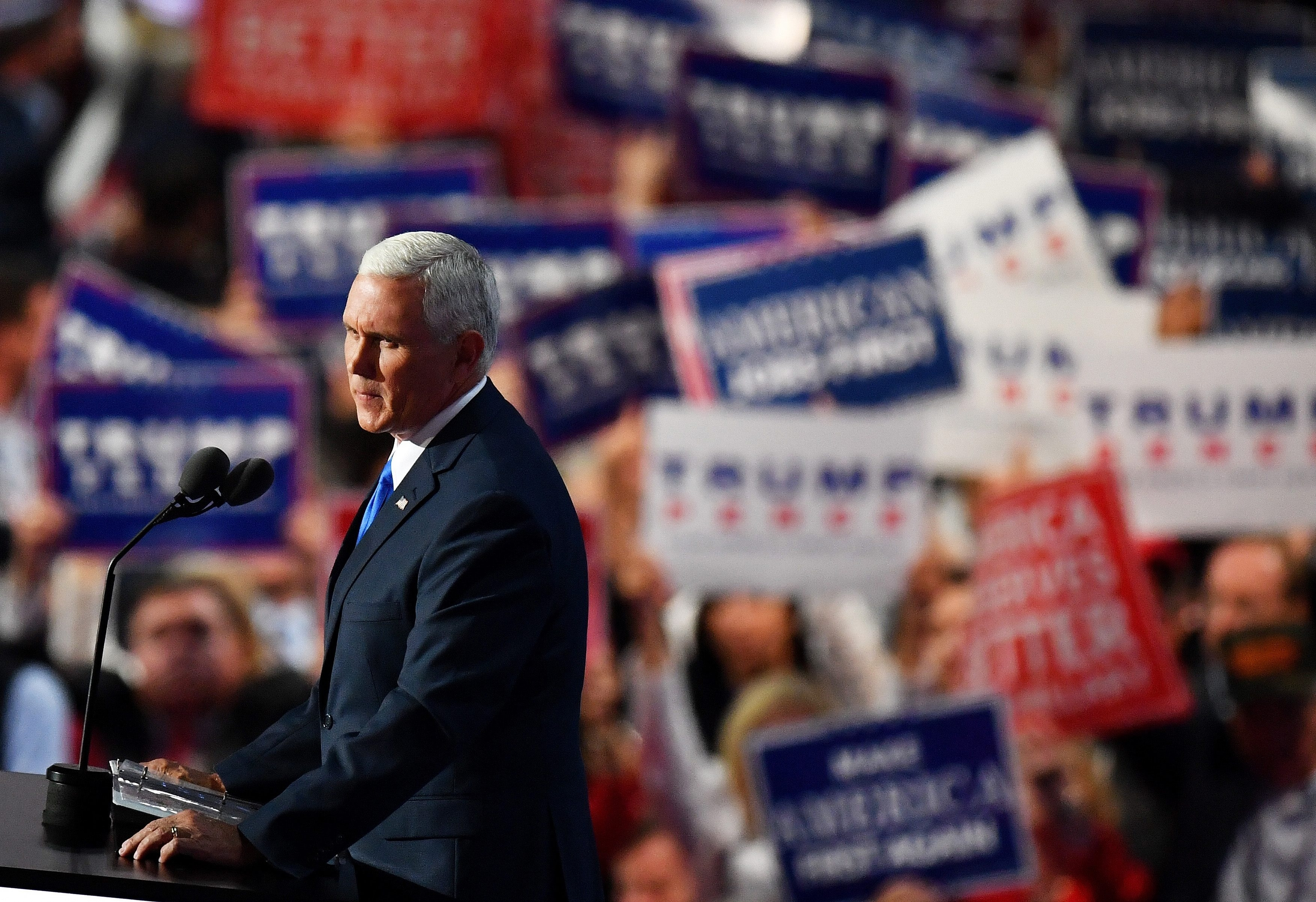 Mike Pence's speech was supposed to be the lead story Wednesday. Instead, it was overshadowed by events, including the boos for Ted Cruz.