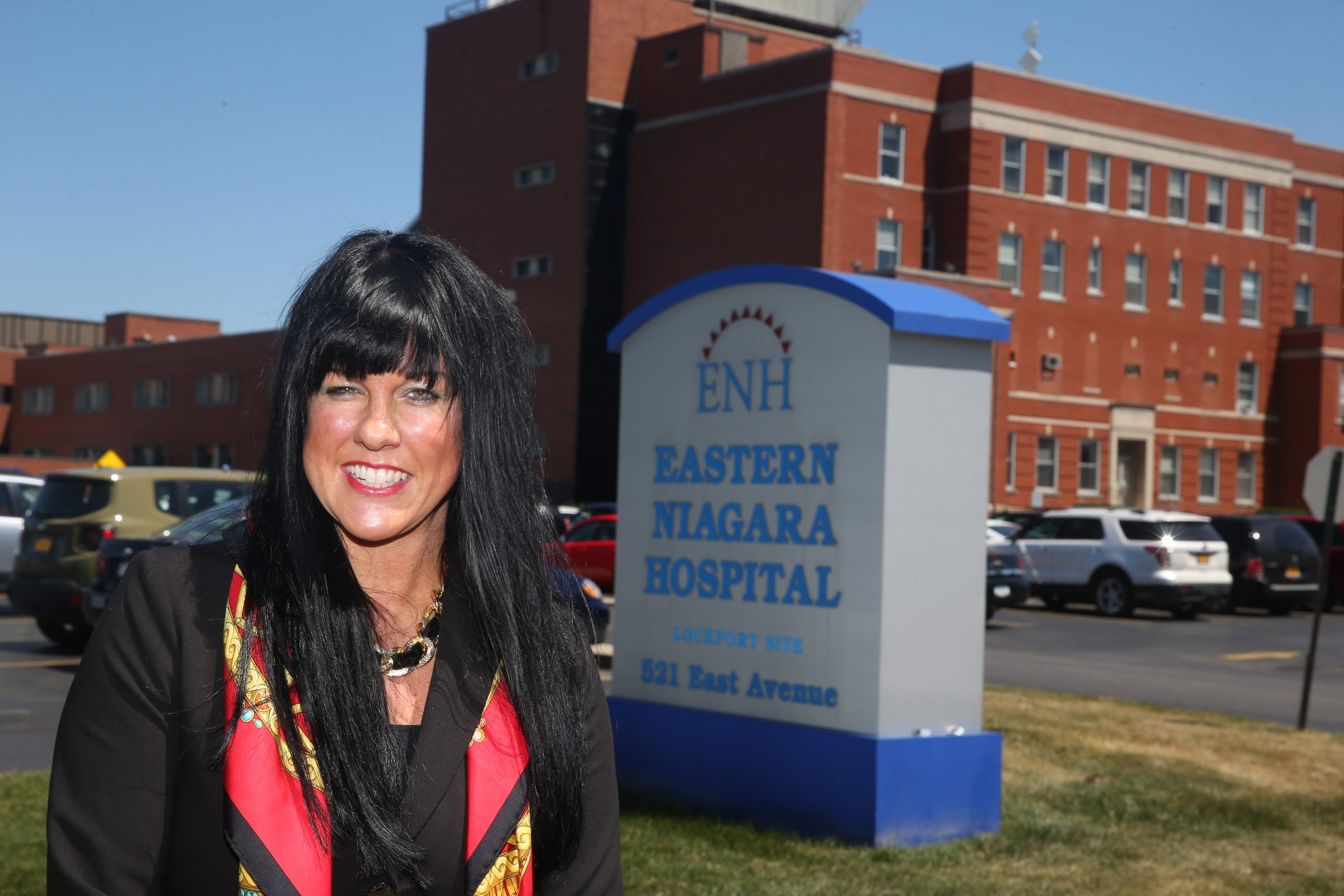 Melisa Niver, above, who resigned in May from the Eastern Niagara Hospital board of directors, criticizes the hospital's CEO Clare A. Haar over patient satisfaction survey responses, but Haar says the results are in line with national averages.