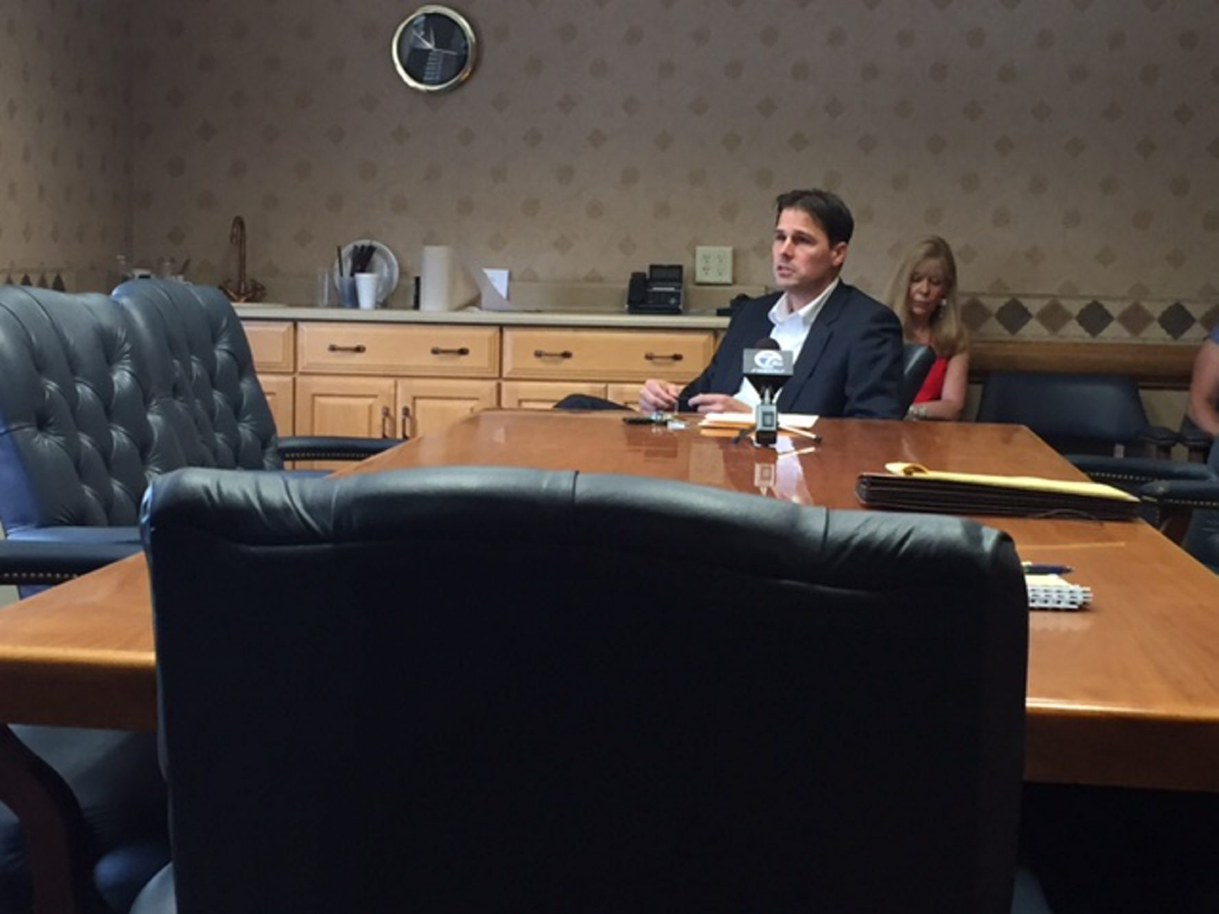 Hamburg Supervisor Steven J. Walters was the lone board member at a meeting to approve a developer for Hamburg's sports facility. (Barbara O'Brien)