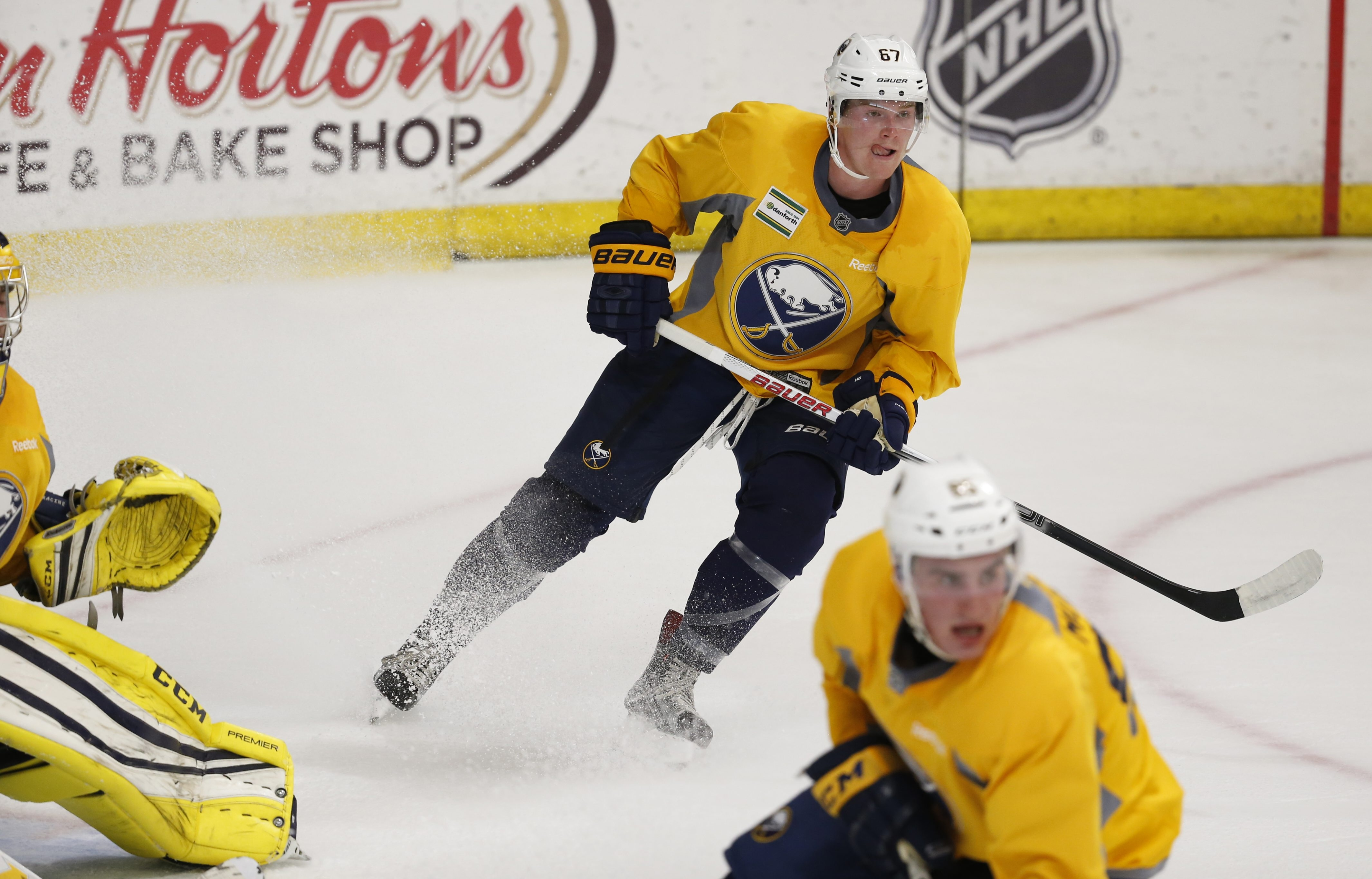 Buffalo Sabres prospect Max Willman faced Jimmy Vesey while playing at Brown.
