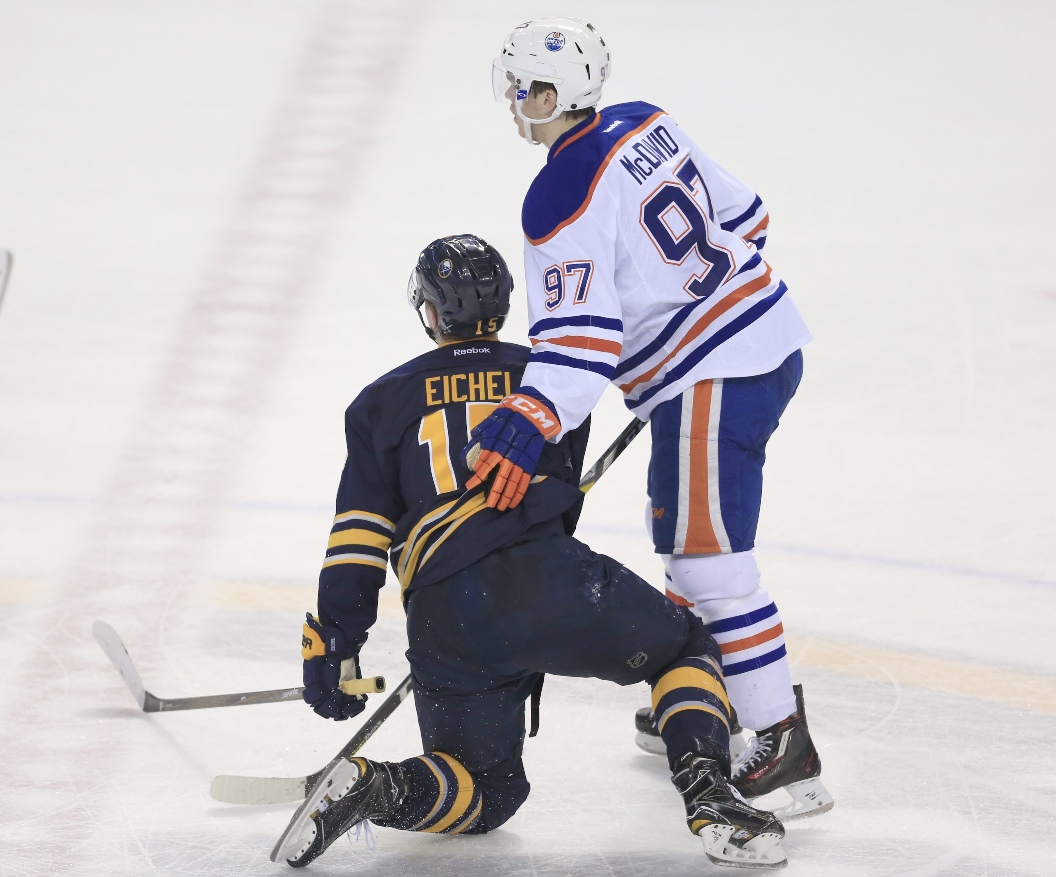 Bringing back the red line would help skill players like Buffalo's Jack Eichel from getting hurt over the middle.