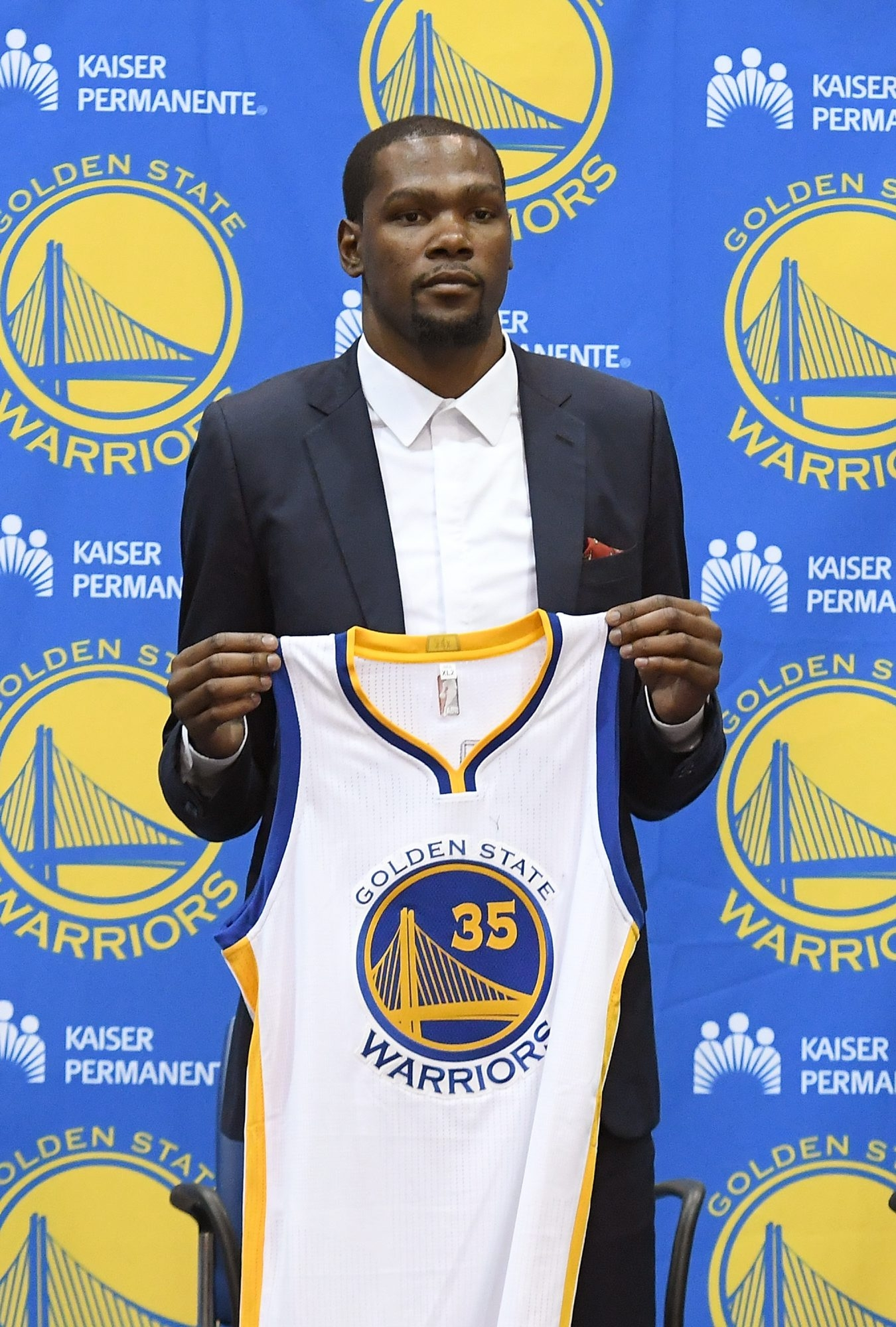 It will be hard for Oklahoma City Thunder fans to see Kevin Durant in a Golden State Warriors uniform.
