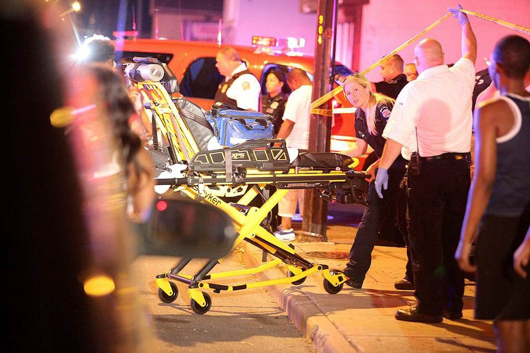 One person was killed and a second person was shot early Tuesday on Broadway and Strauss. (John Hanley/Special to the News)