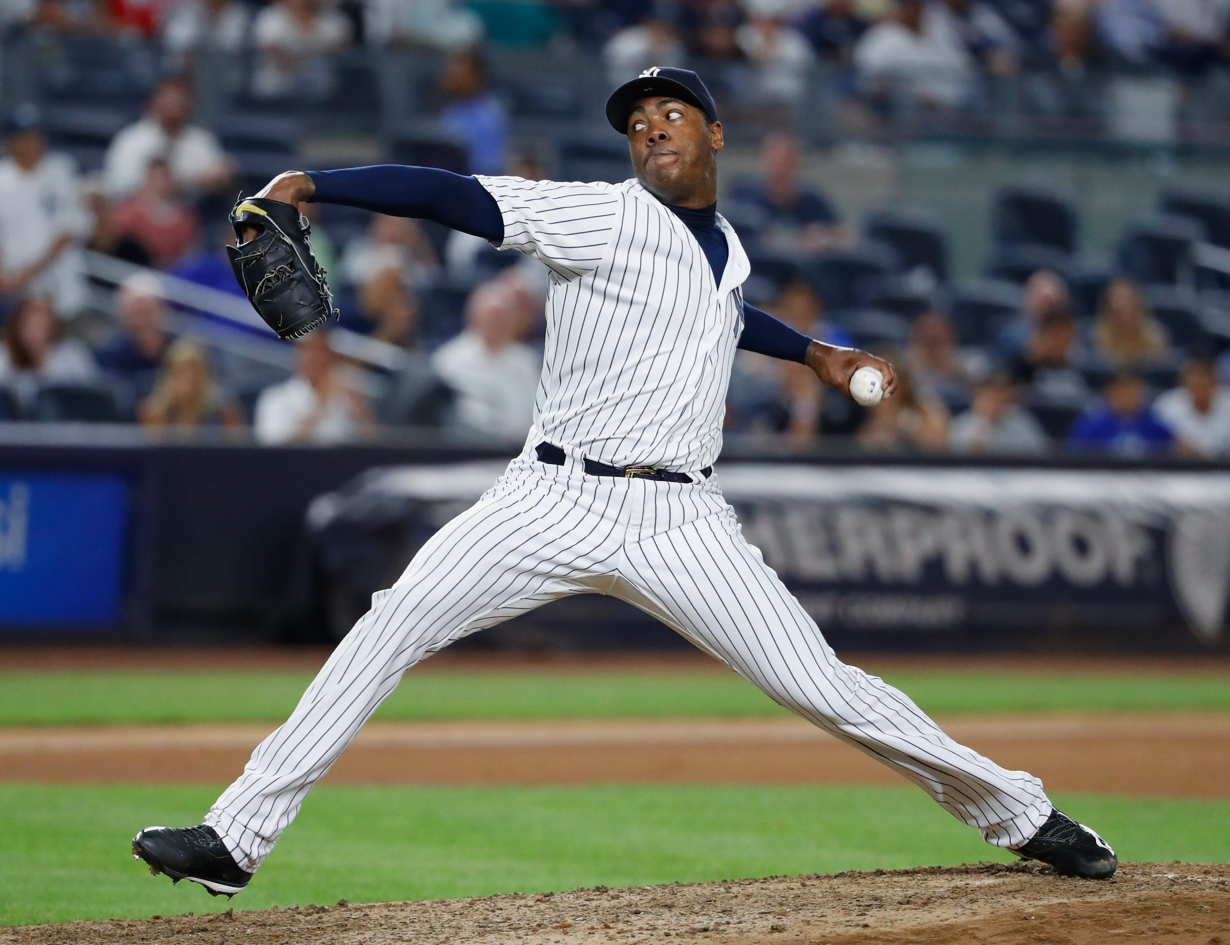 Should the Yankees decide to sell, closer Aroldis Chapman would be prime trade bait for a contender.