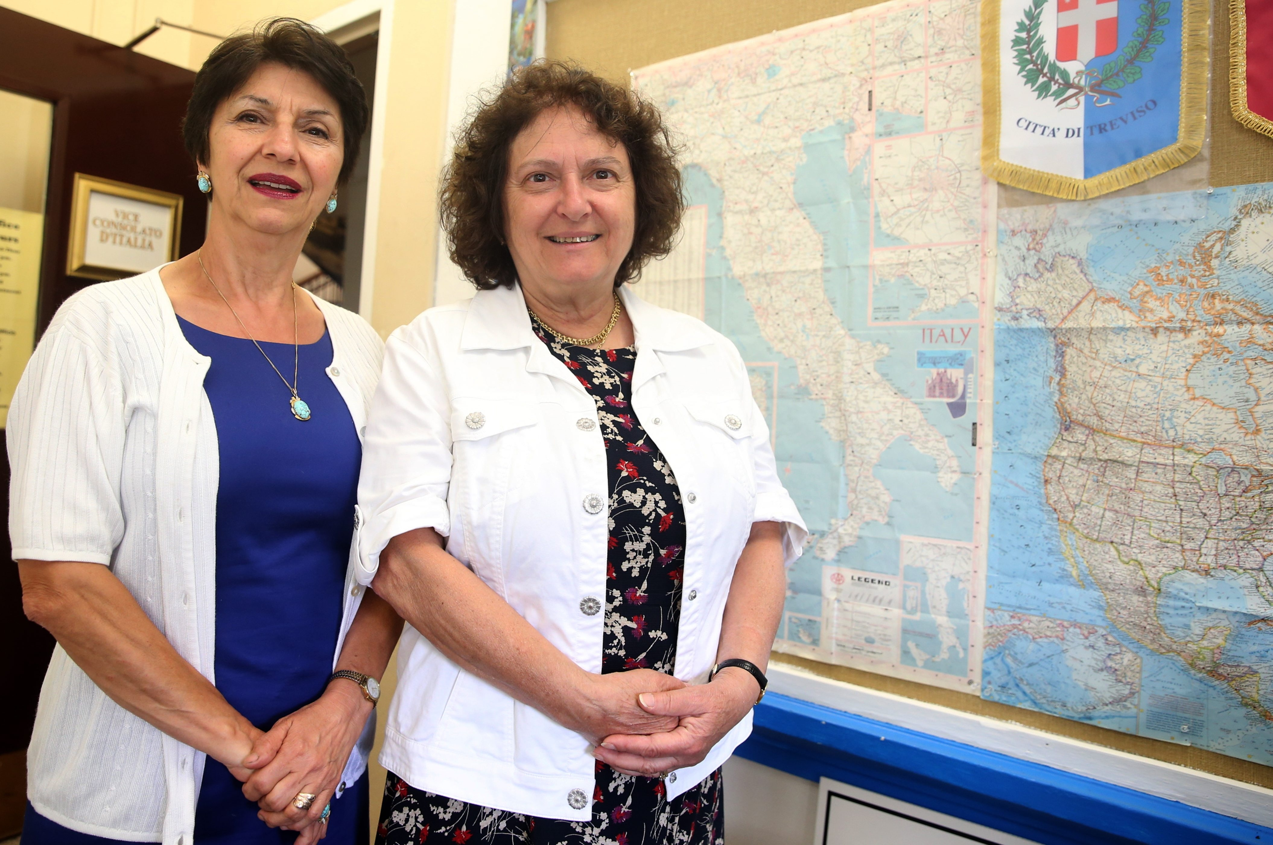 The Italian vice consulate Lucia Caracci Ederer, right, and assistant Dr. Elisa Ridolfi Wareham have settled into their new office at the Niagara Arts and Cultural Center.