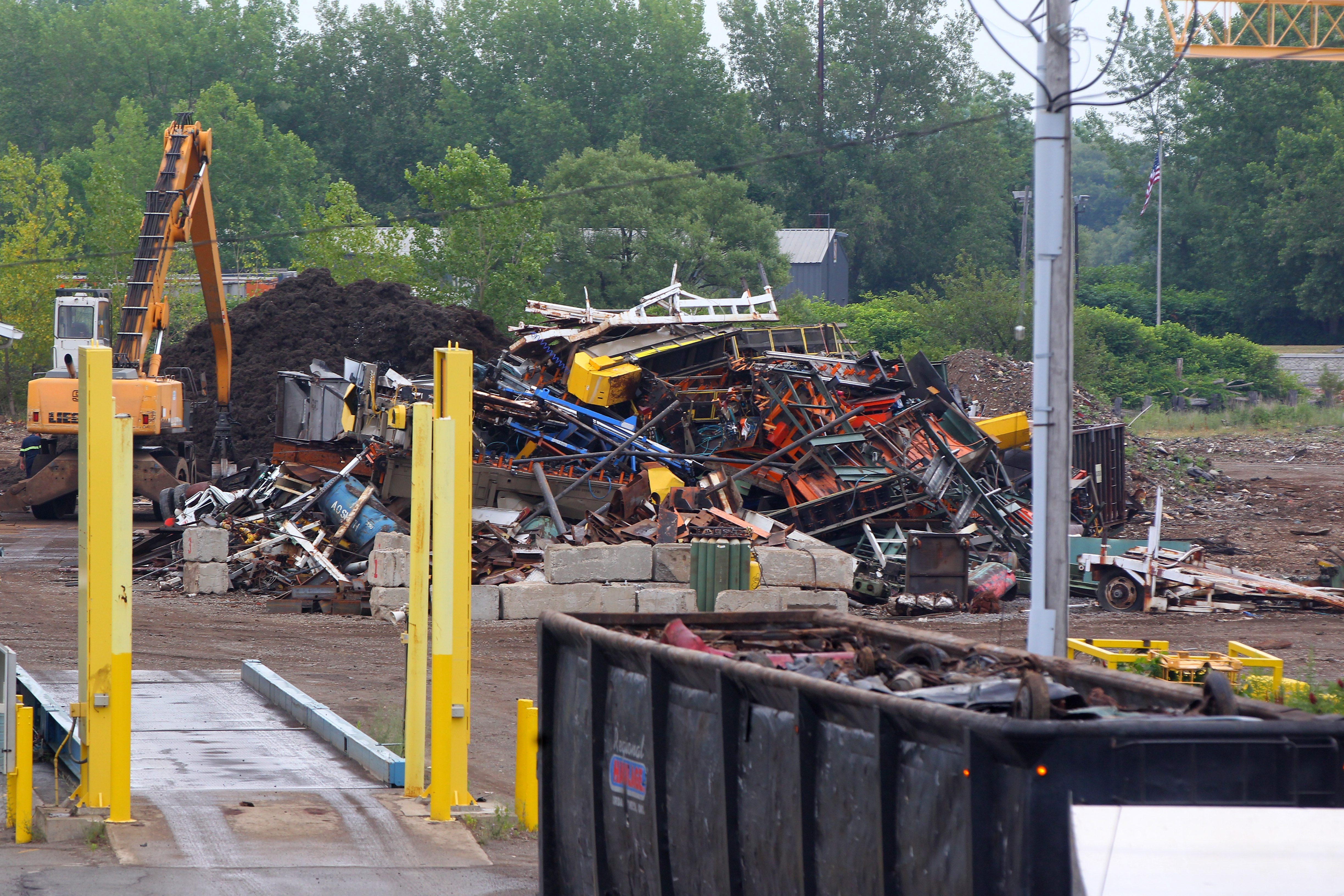 A plan to turn the Gerdau Ameristeel scrap yard on Ohio Street into a metal shredding and recycling center has effectively been killed by the Common Council.    (Mark Mulville/Buffalo News)