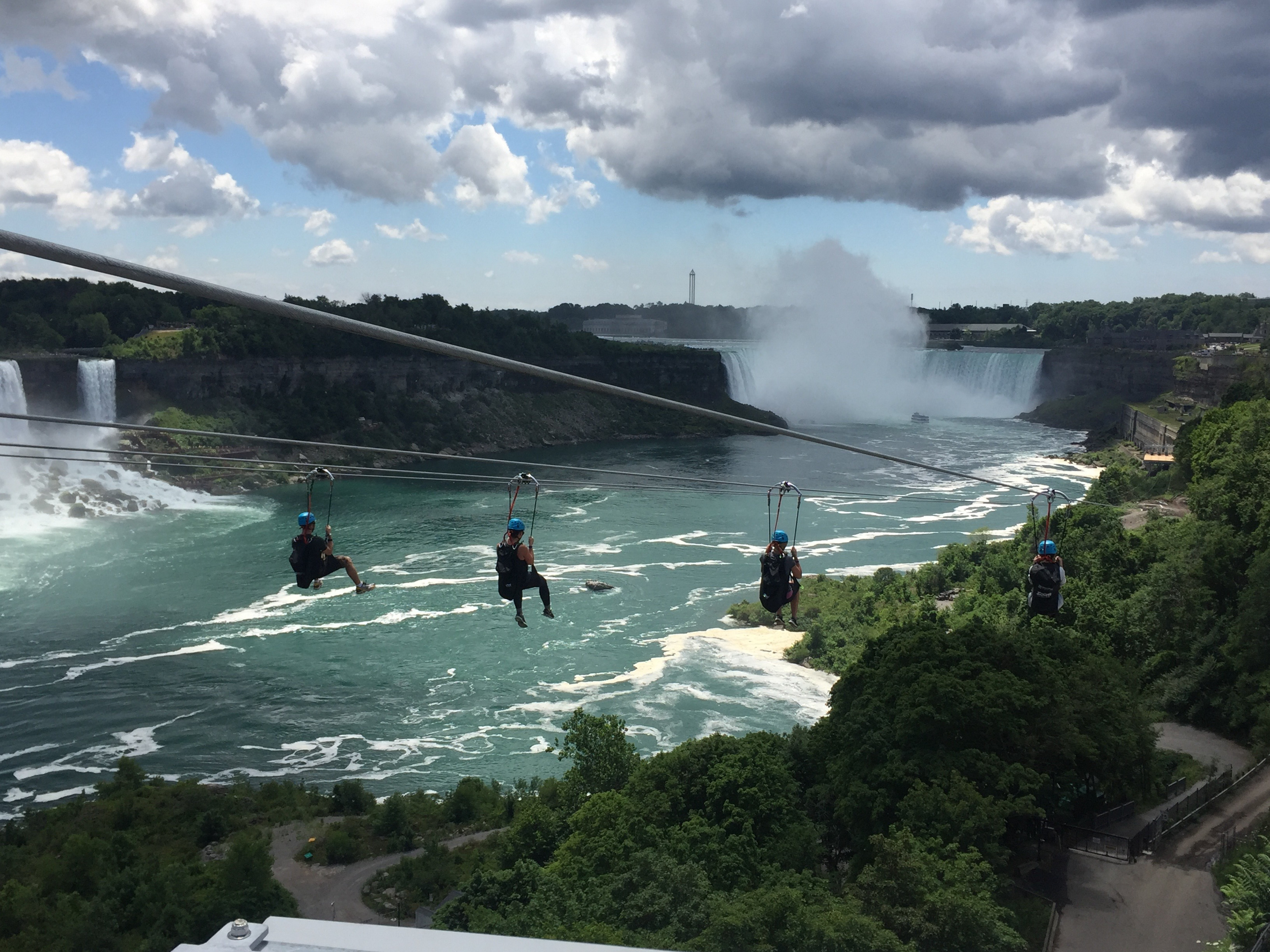 WildPlay's MistRider Zipline to the Falls in Niagara Falls, Ont. opens to the public Friday.