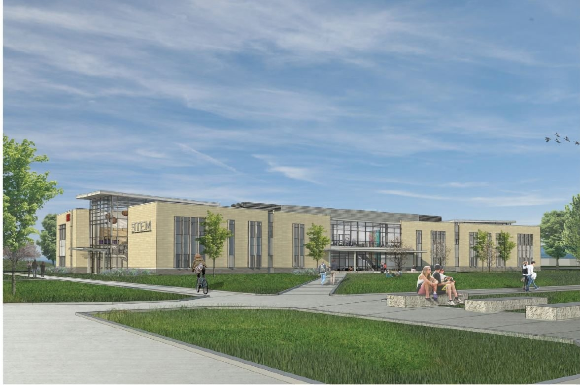 A rendering of the new STEM building at Erie Community College's Amherst campus.