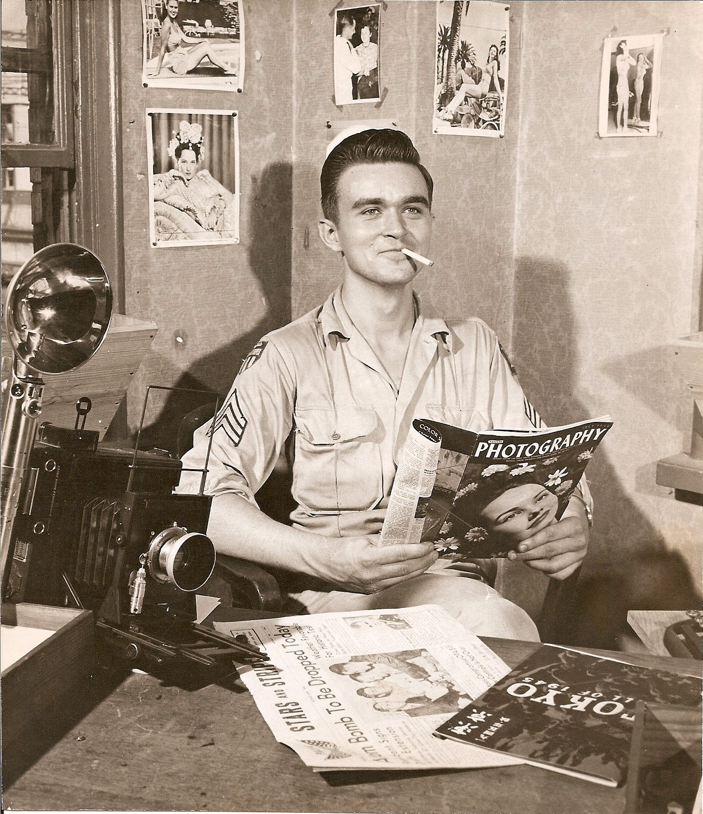 During occupa- tion of Japan, Sgt. Martin Scheeler, a Buffalo native, became chief pho- tographer for the military news- paper Stars and Stripes in Tokyo.