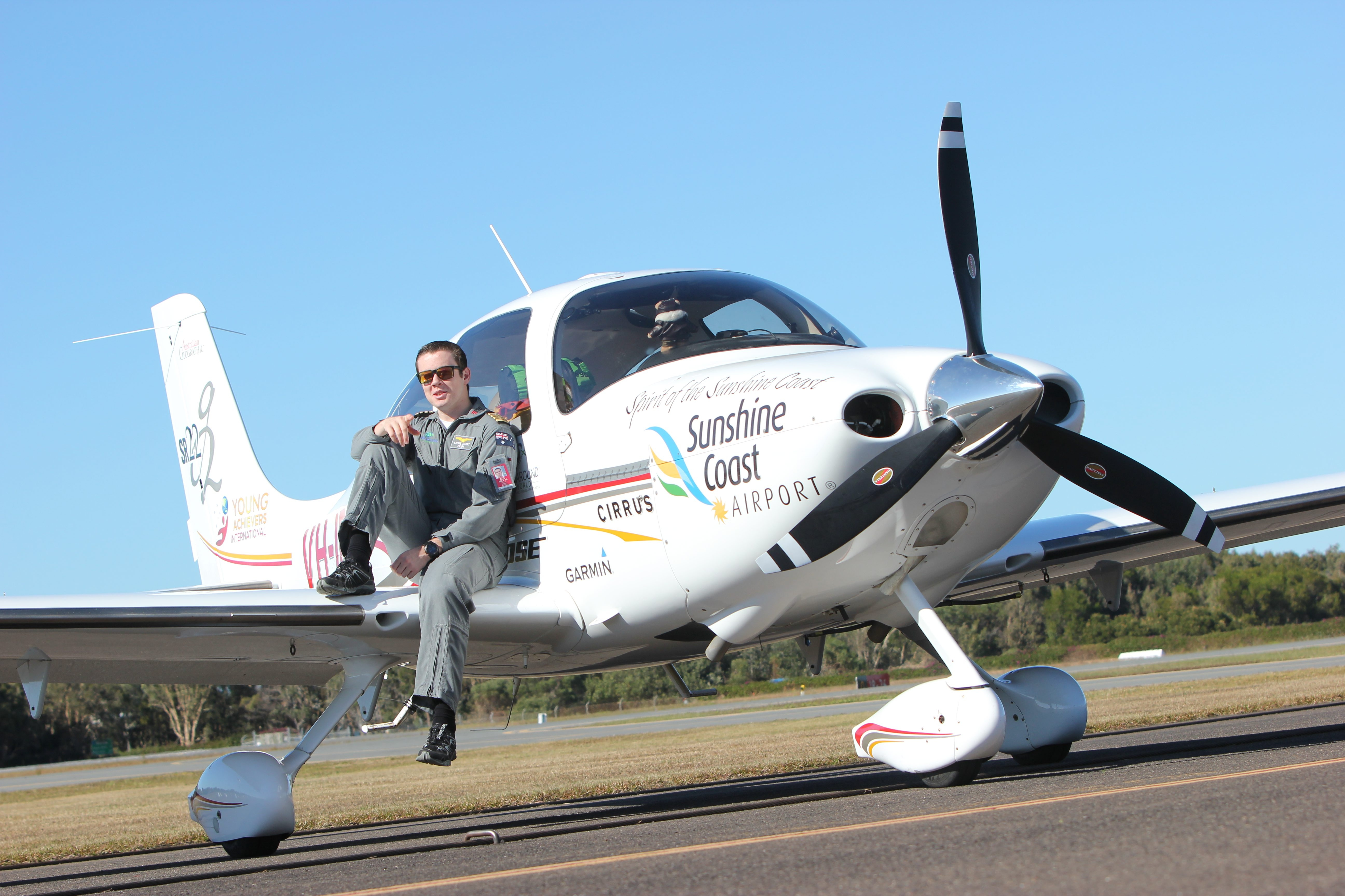 Australian teen pilot Lachlan Smart landed in Niagara Falls on Tuesday as part of his round-the-world odyssey. (Photo courtesy of Wings Around The World)