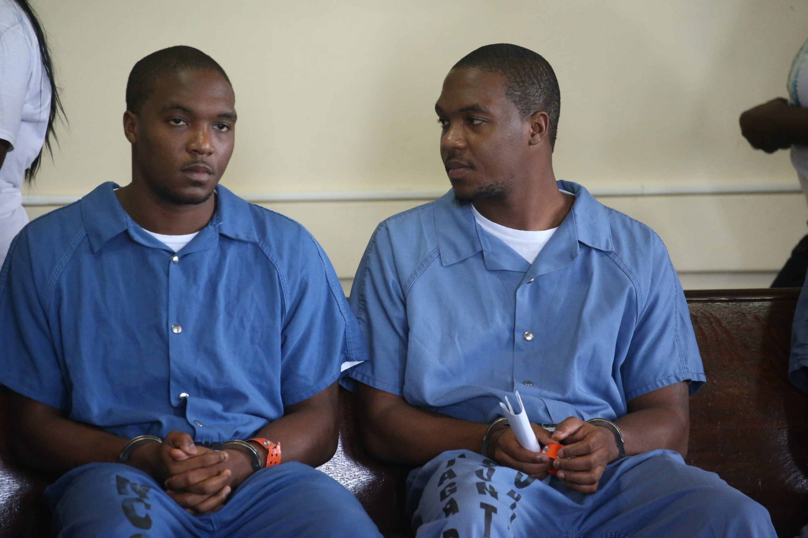 Sentencing was delayed for identical twins Keon McTyere, left, and Deon McTyere until Aug. 4. (John Hickey/Buffalo News)
