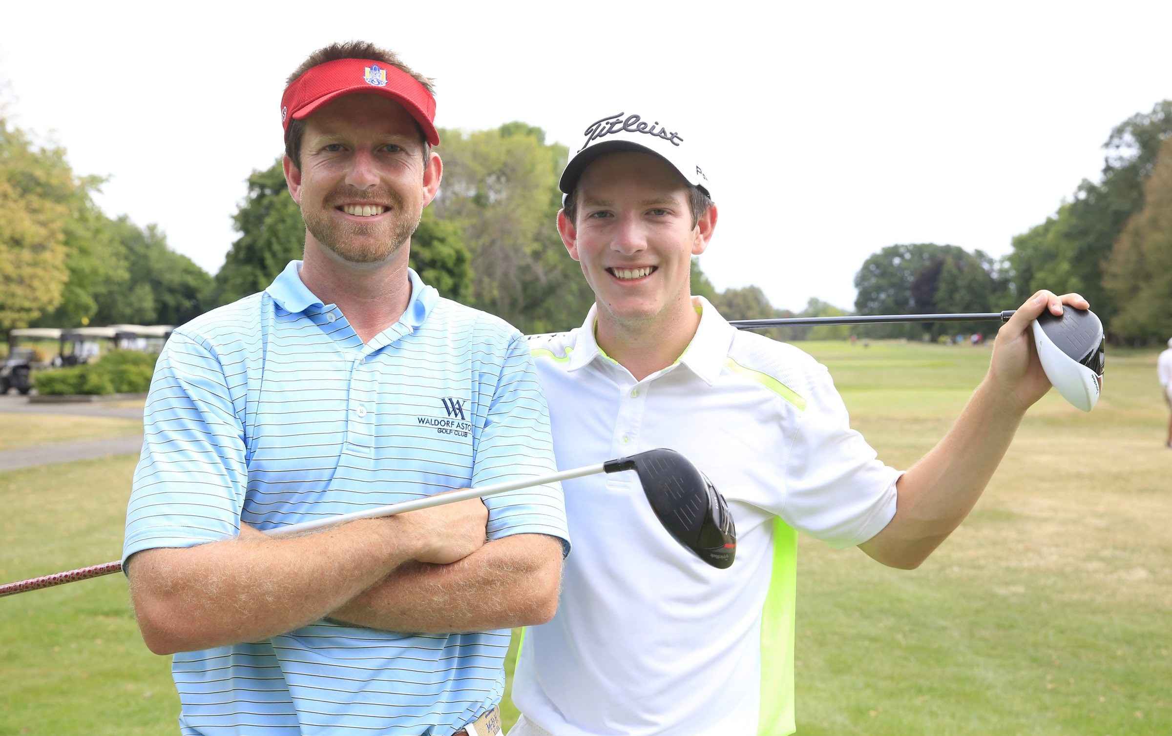 Brothers Billy and David Hanes are both taking part in the Porter Cup, and David has had the advantage so far.