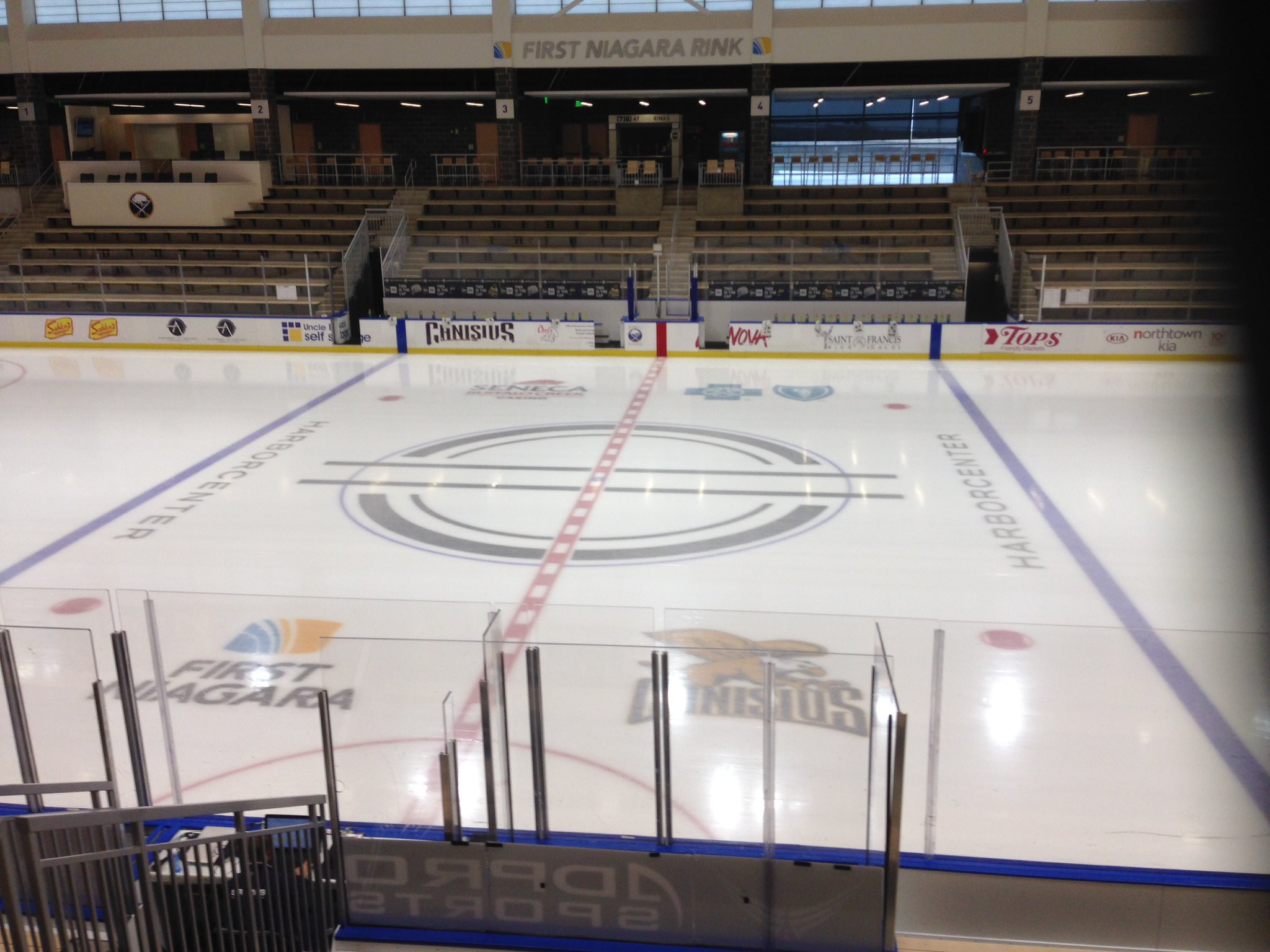 Our team is on the scene at HarborCenter. (Jack Goods/Buffalo News)