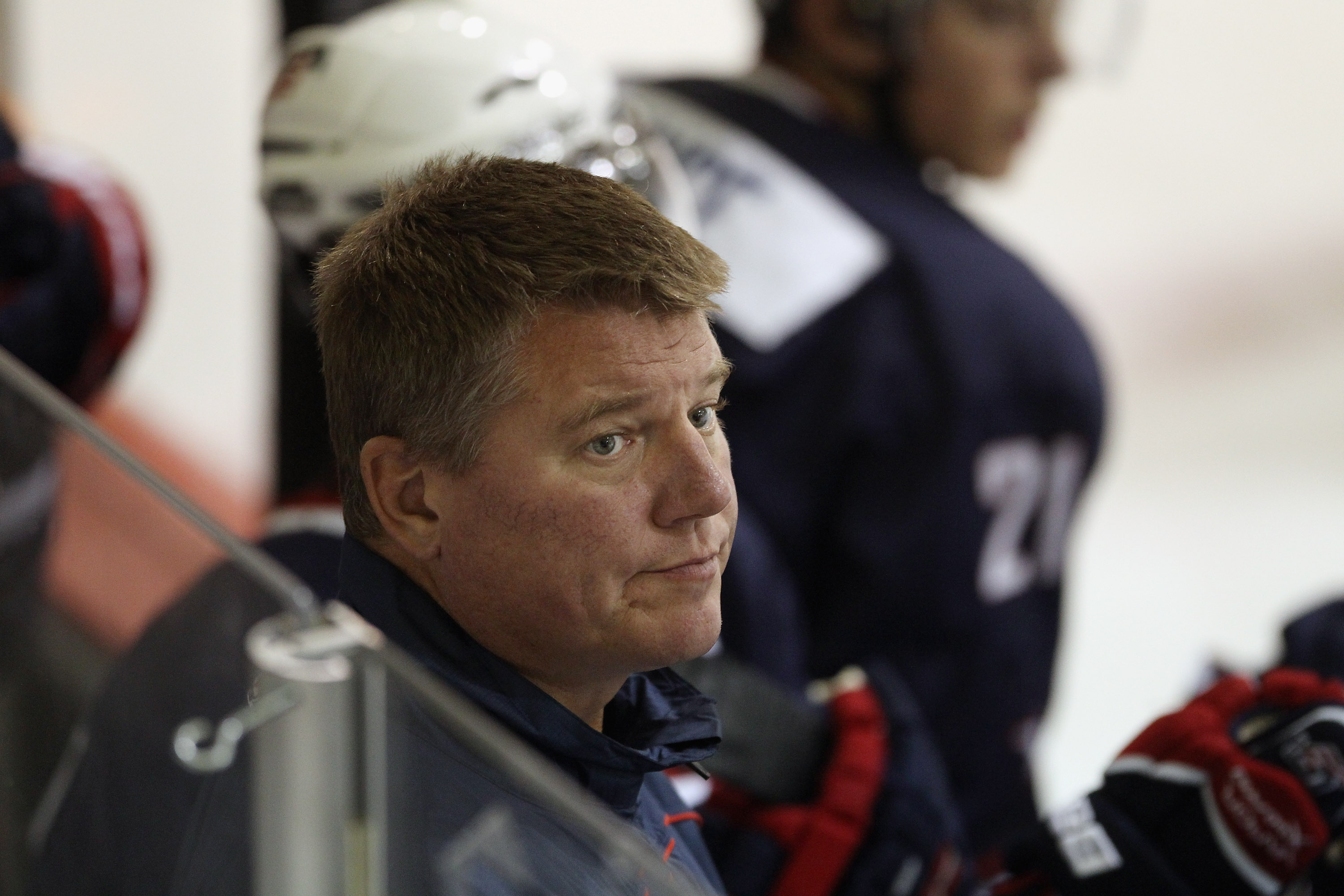 Tom Ward coached for Team USA during the 2011 USA Hockey Junior Evaluation Camp in Lake Placid. (Getty Images)