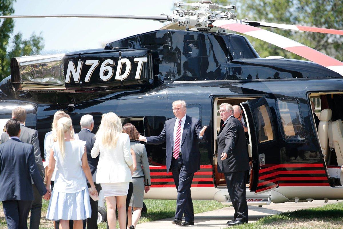 Donald Trump arrives in Cleveland. (Derek Gee/Buffalo News)