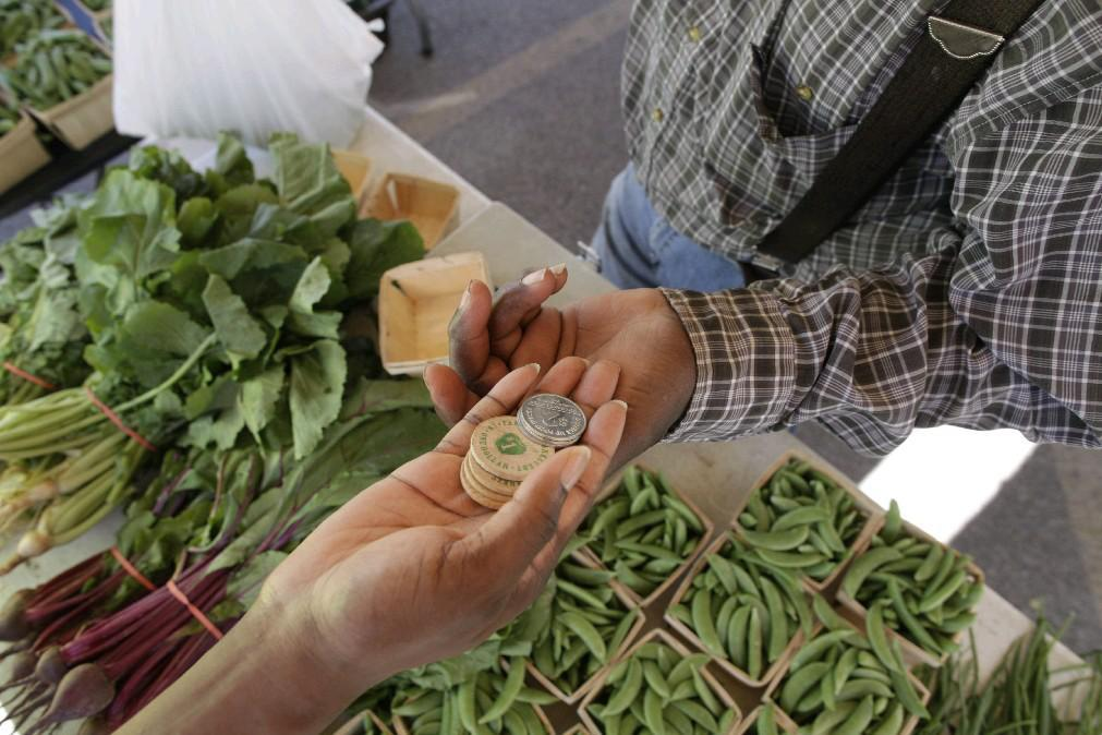 The Double Up Food Bucks program uses a token system to double the bounty of fresh fruits and veggies for SNAP users. (Derek Gee/Buffalo News file photo)