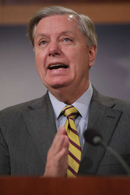 South Carolina Sen. Lindsey Graham has been on-again, off-again on Trump's nomination to lead the GOP into November. He's sitting out Cleveland, however, according to the latest reports.