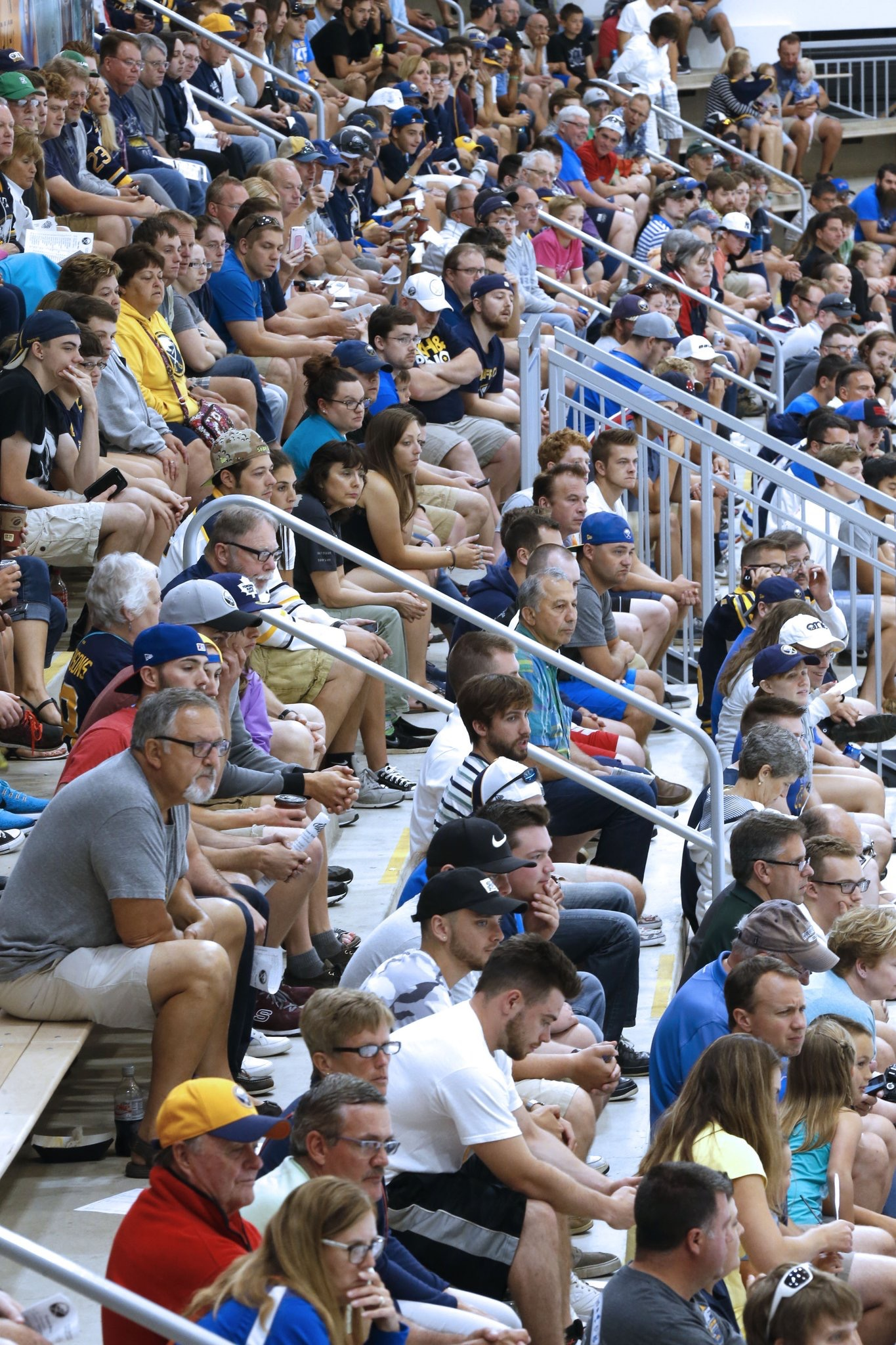 There was a healthy crowd at HarborCenter for the Sabres development camp scrimmage. (Robert Kirkham/Buffalo News)