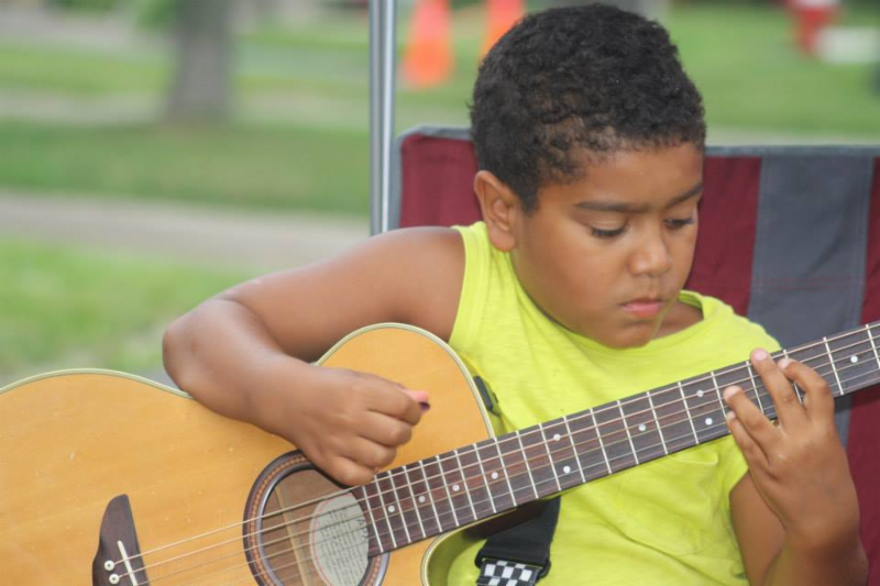 Jax Jordan, an 11-year old guitar player from Kenmore, takes the stage at 6:30 p.m. Friday for an hourlong set.