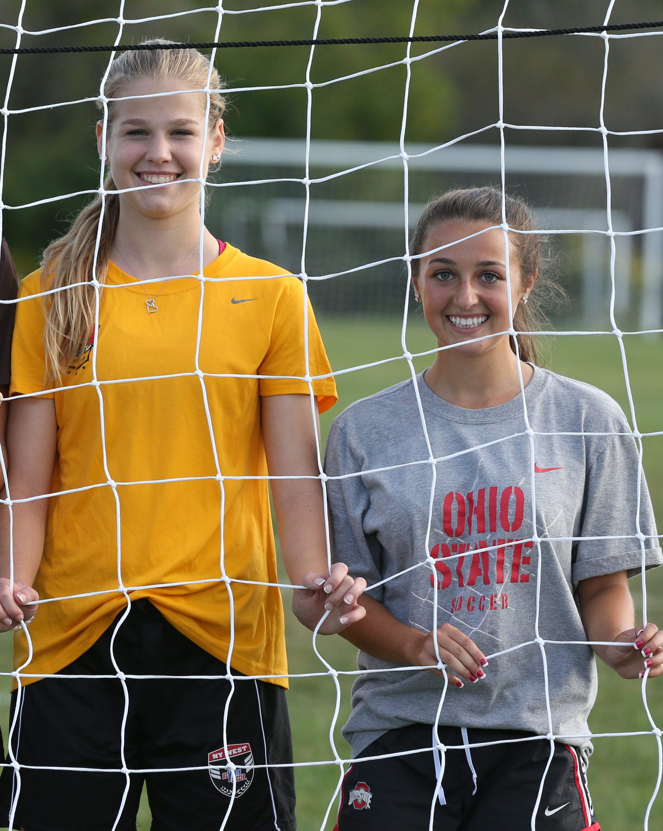 Hannah Spitzer, left, and Riley Bowers are both returning first-team All-WNYers for Clarence. (Mark Mulville/Buffalo News)