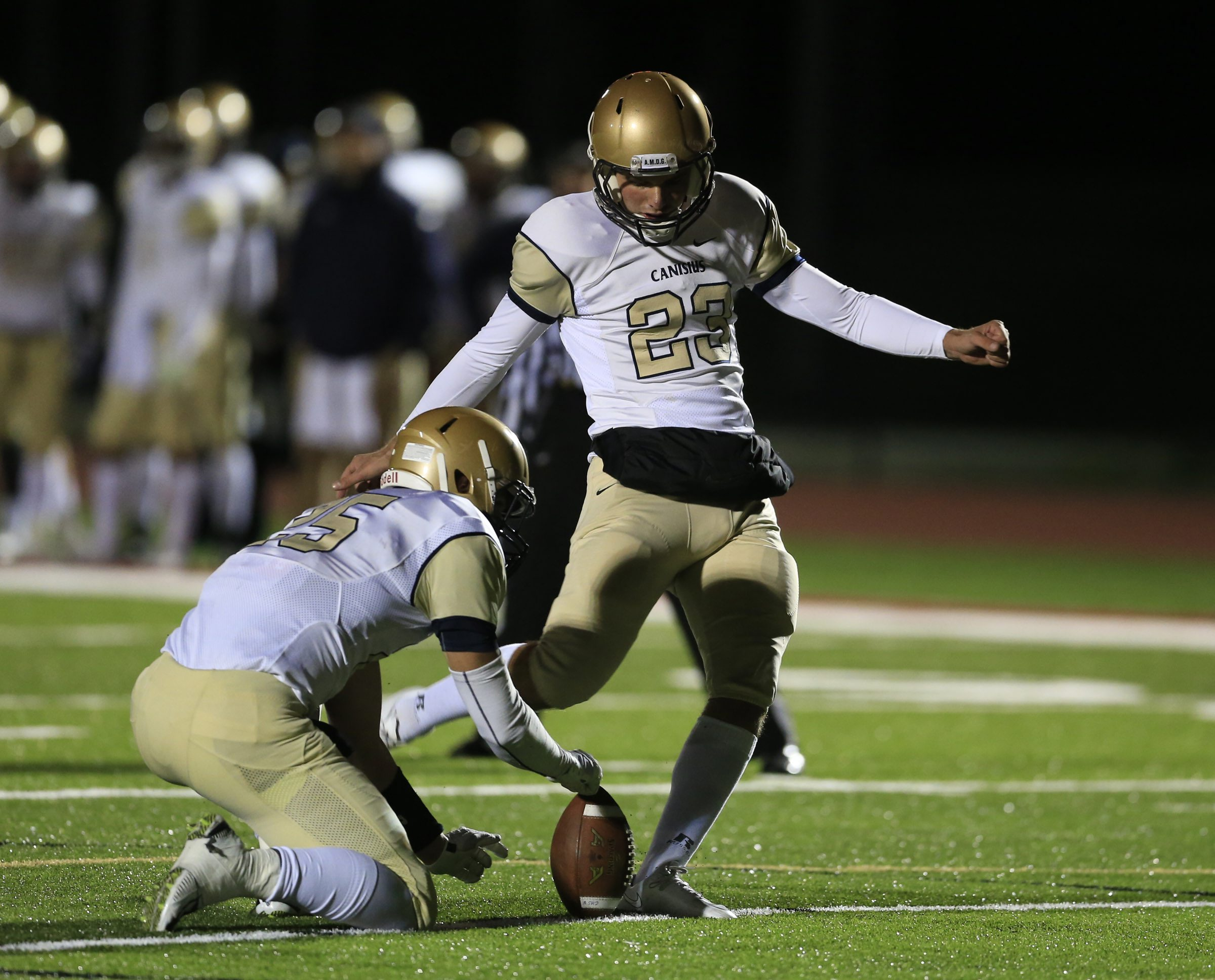 Canisius kicker Blake Haubeil is the top-ranked kicking prospect in the country, according to 247 Sports.  (Harry Scull Jr./Buffalo News)
