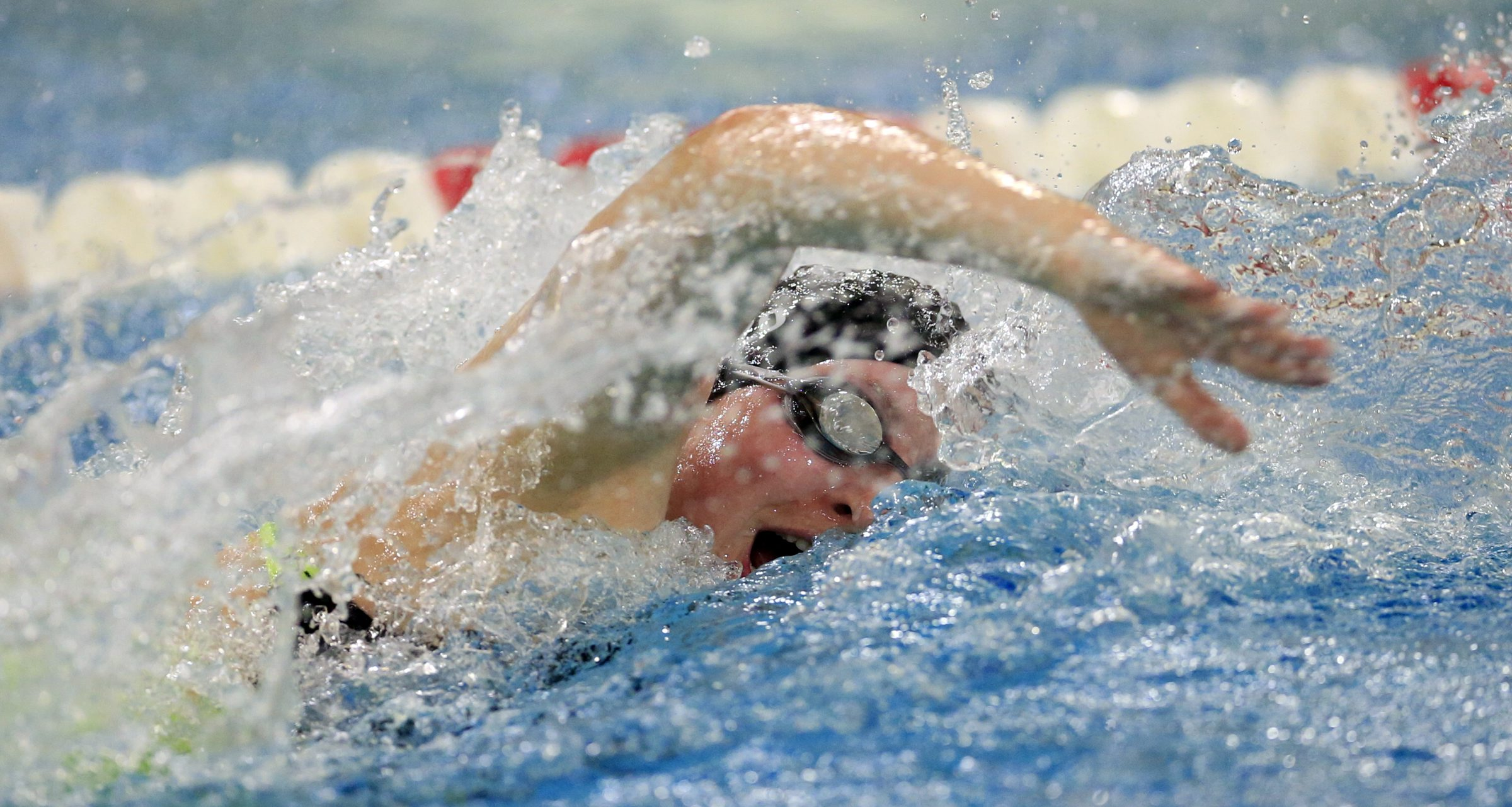 Ashley Gizzo from Sacred Heart wins the 50 free with a time of 25:13 during the All Catholic girls meet at the Flickenger Center on Wednesday, Nov. 4, 2015. (Harry Scull Jr./Buffalo News)